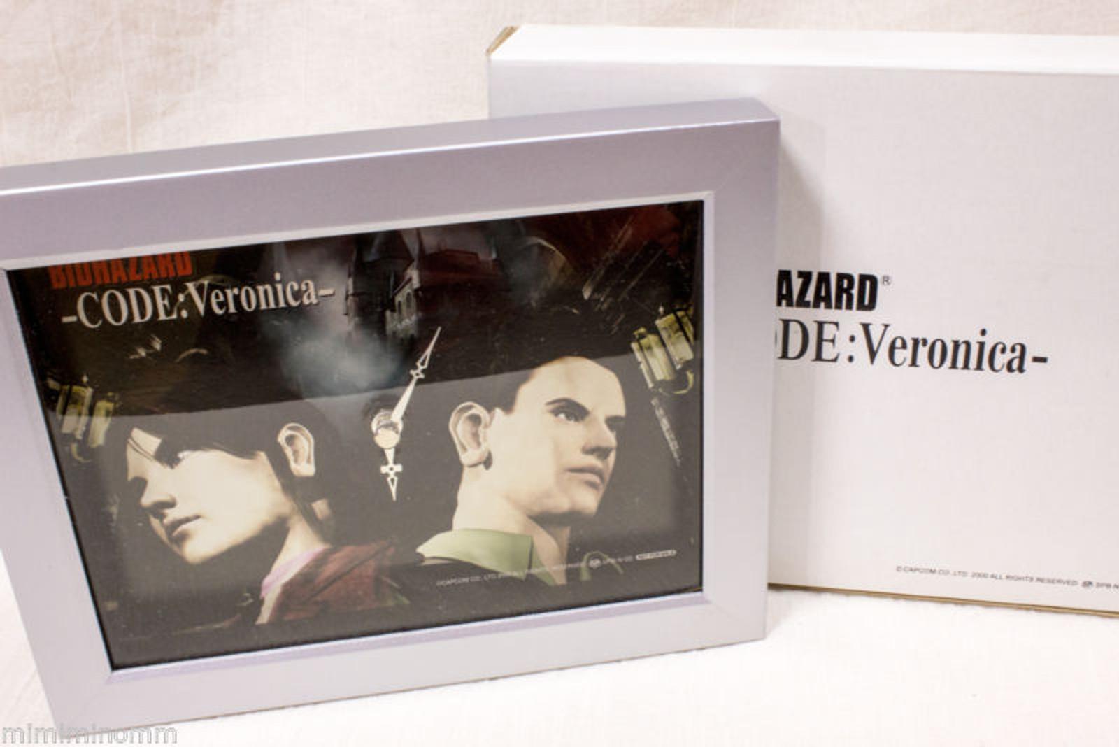 RARE! RESIDENT EVIL Biohazard Code:Veronica- Limited Picture Clock Capcom JAPAN