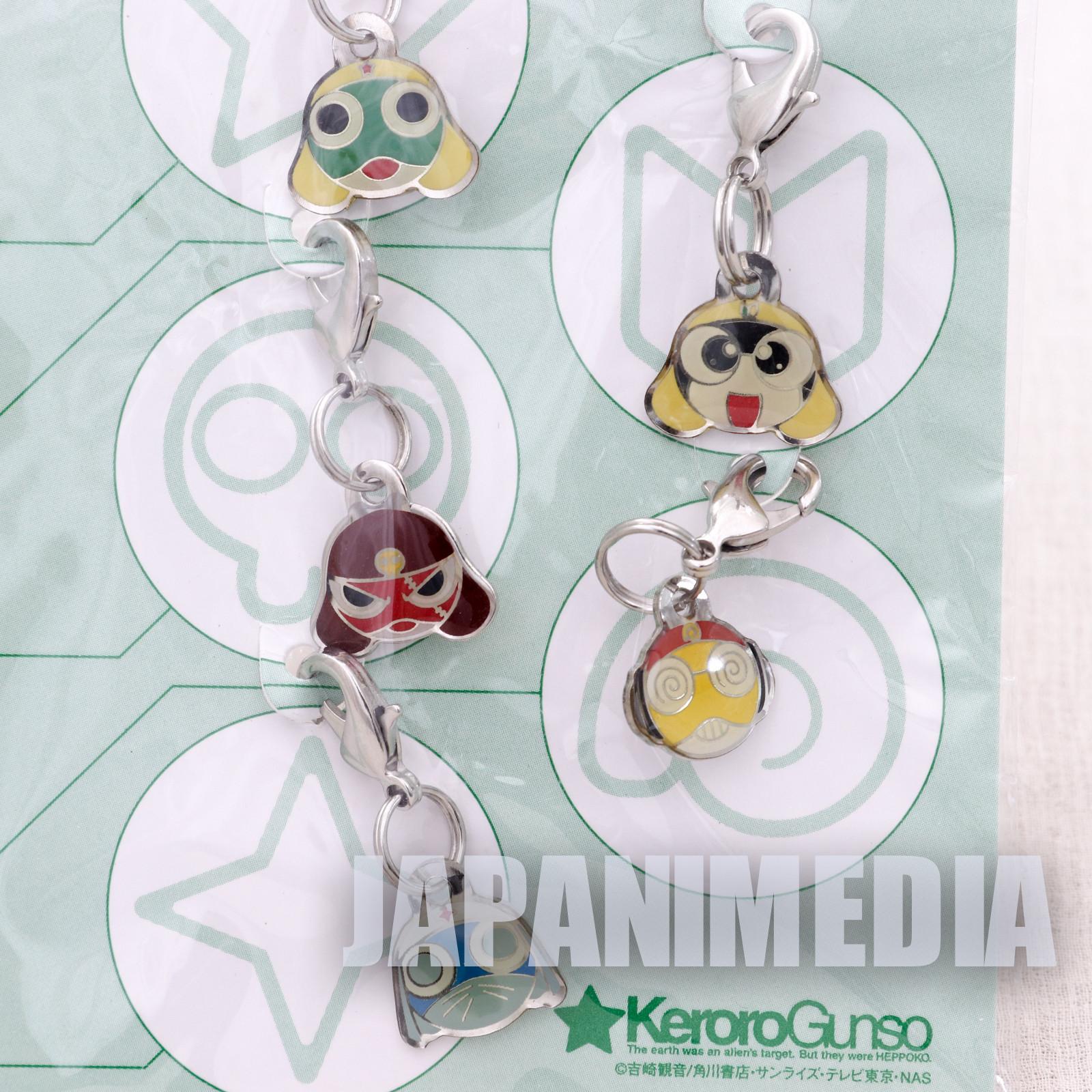 Sgt. Frog Keroro Gunso Fastener Mascot 5pc Set Giroro Tamama Kururu Dororo JAPAN