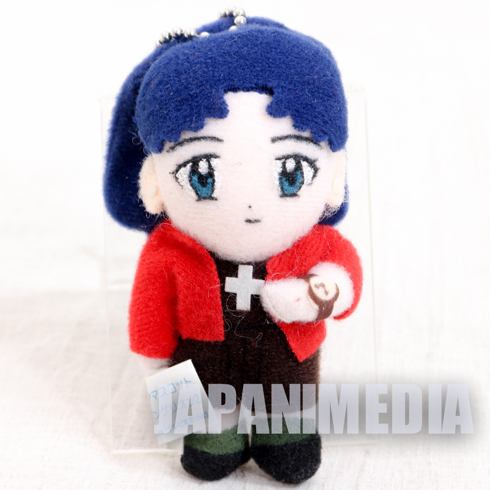 Evangelion Misato Katsuragi Mini Plush Doll Figure Ball chain SEGA JAPAN