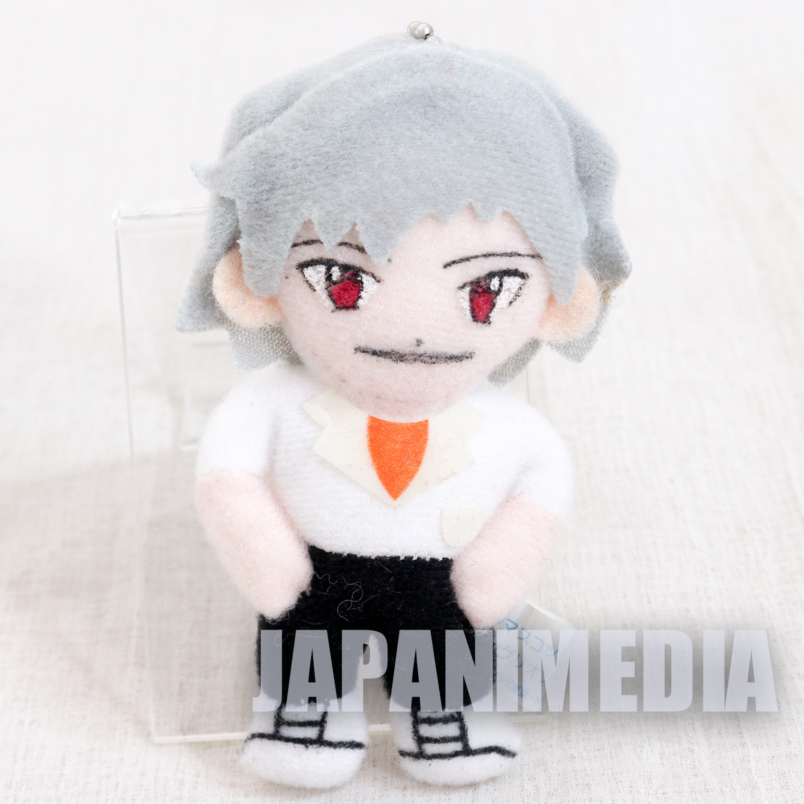 Evangelion Kaworu Nagisa Mini Plush Doll Figure Ball chain SEGA JAPAN