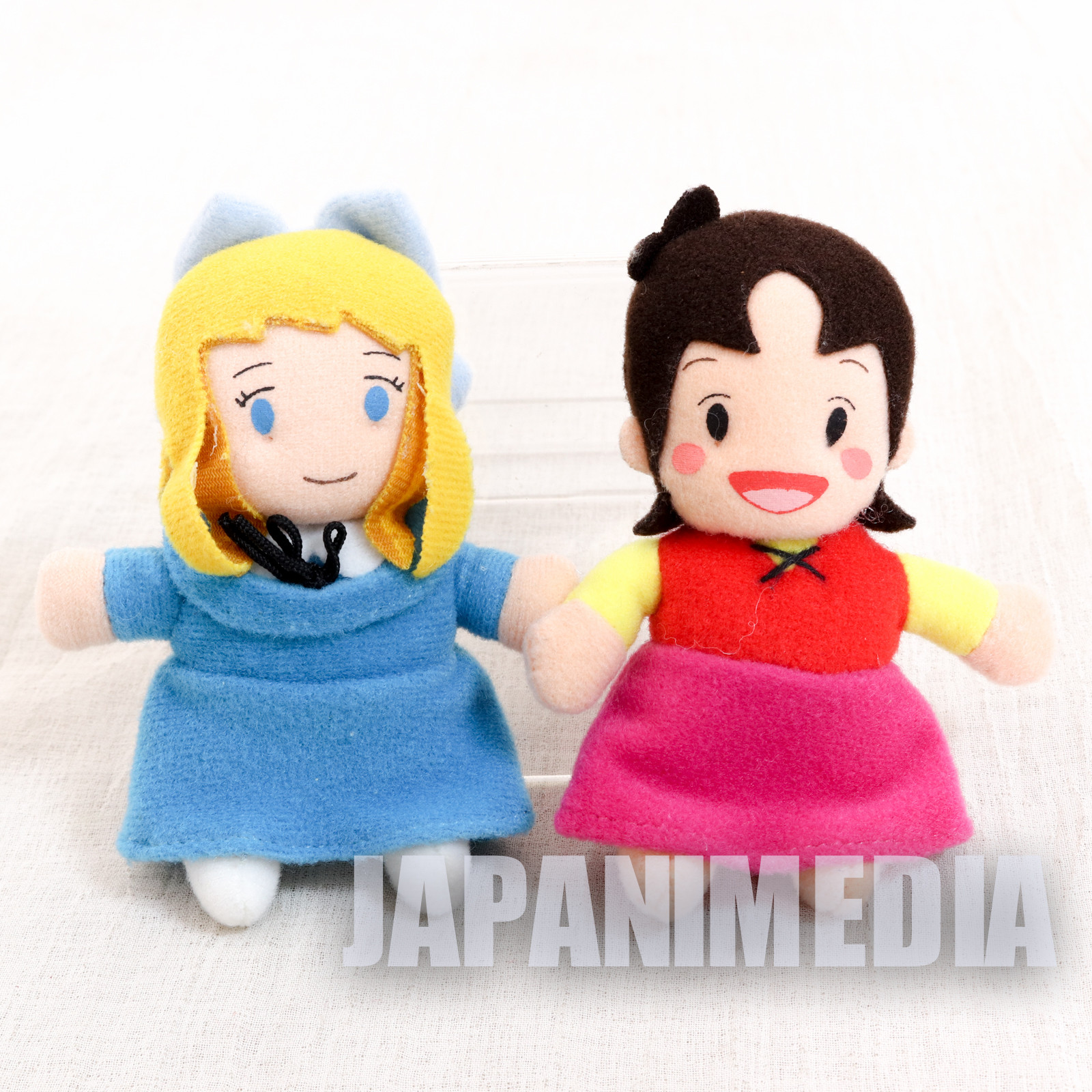 Heidi Girl of the Alps Heidi + Clara Mini Plush Doll w/ Magnet Set JAPAN ANIME