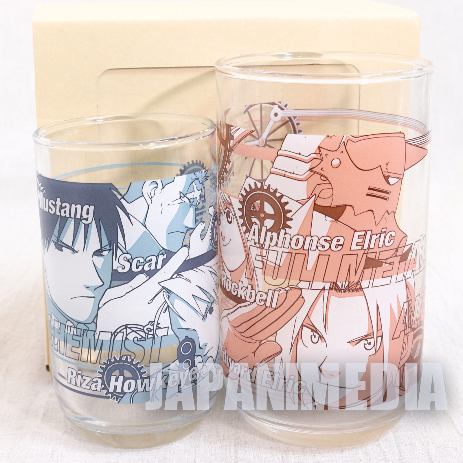 FullMetal Alchemist Stacking Glass Set Square Enix JAPAN