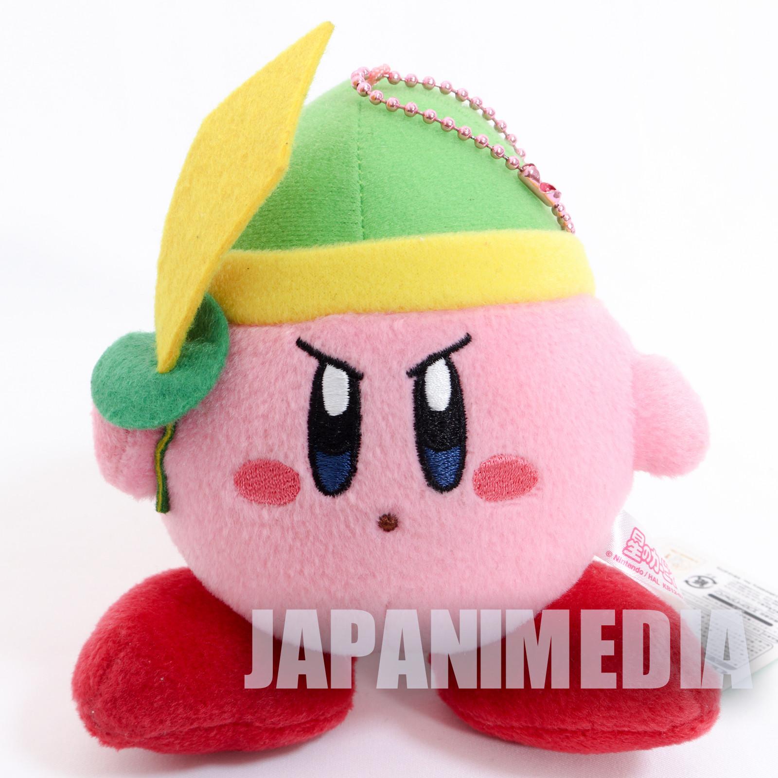 Kirby Super Star With Sword Mini Plush Doll Ballchain NINTENDO JAPAN