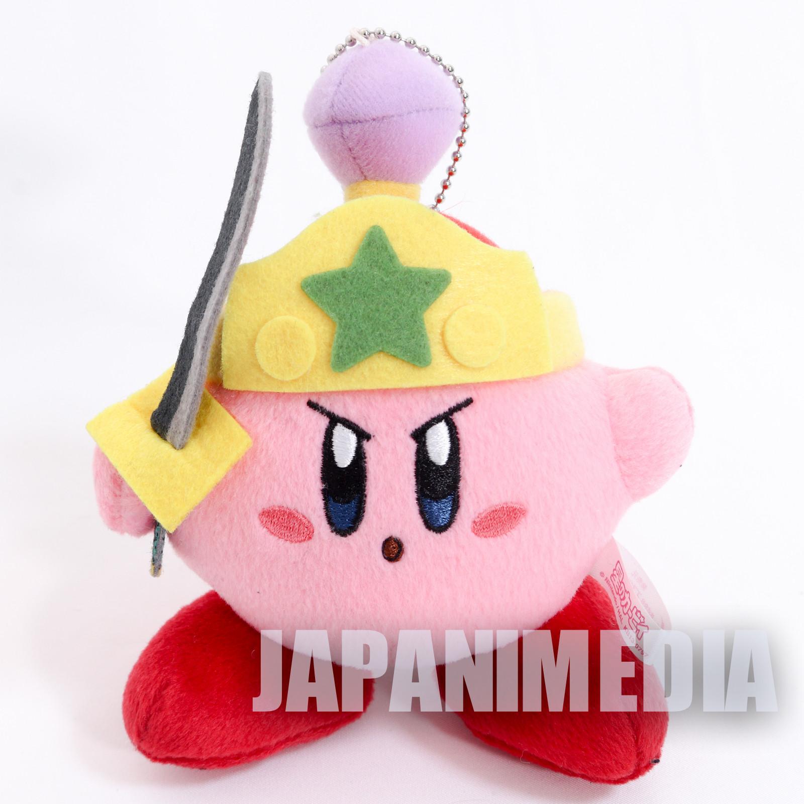 Kirby Super Star With Sword Mini Plush Doll Ballchain NINTENDO JAPAN 3