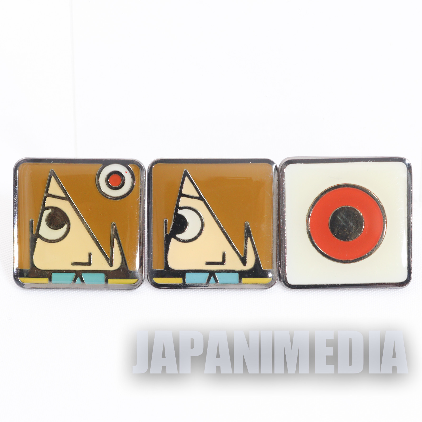Gegege no Kitaro Metal Pins 3pc Set Medama Oyaji Kitaro JAPAN