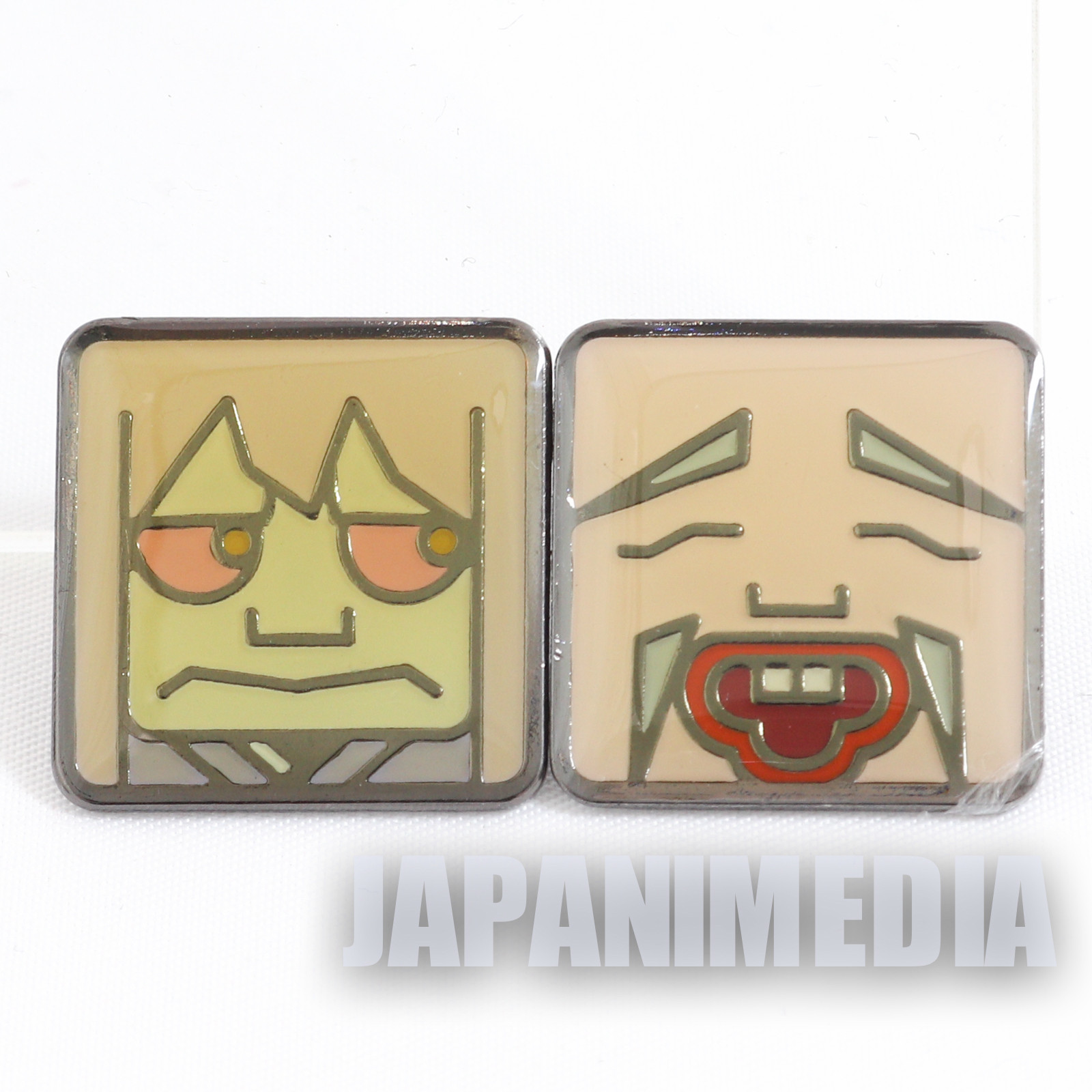 Gegege no Kitaro Metal Pins 2pc Set Sunakake Babaa Konaki Jijii JAPAN
