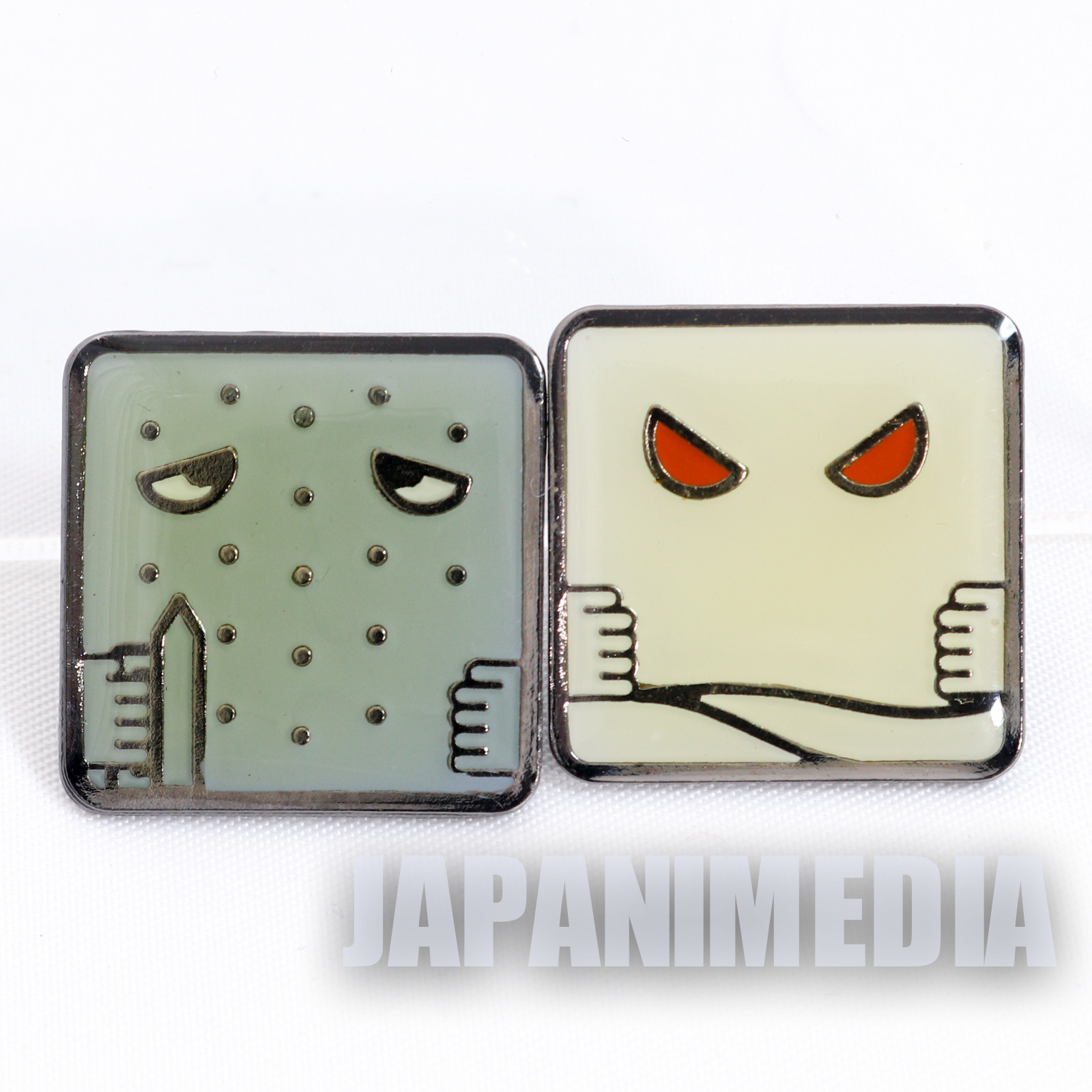 Gegege no Kitaro Metal Pins 2pc Set Nurikabe Ittan-momen JAPAN