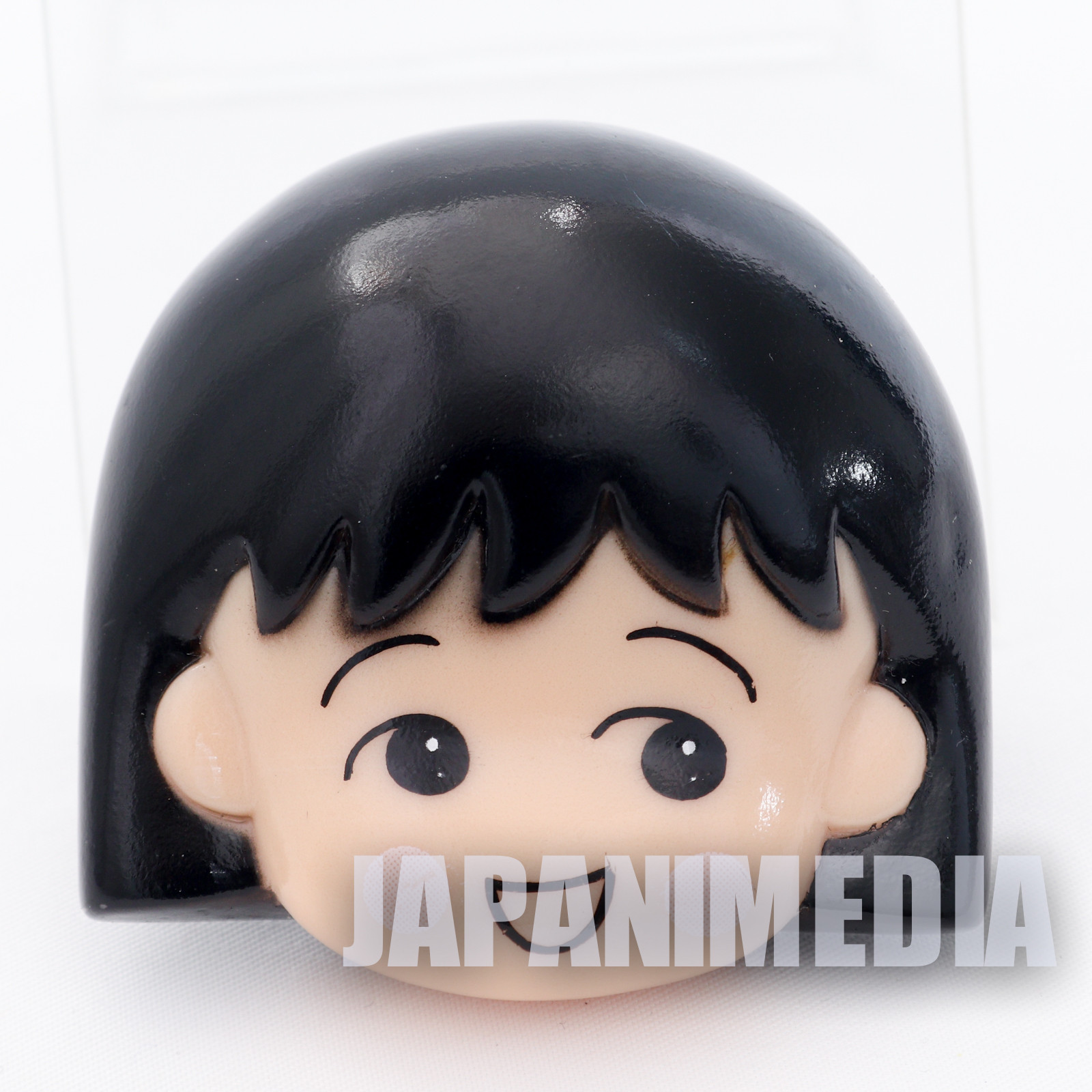 Retro Rare Chibi maruko Chan Face Mascot Brooch Pin JAPAN ANIME
