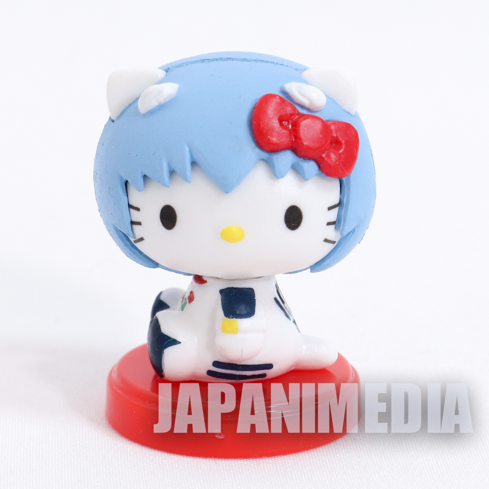 "Evangelion Hello Kitty Rei Ayanami 1.25"" Mini Figure Sanrio JAPAN ANIME MANGA"