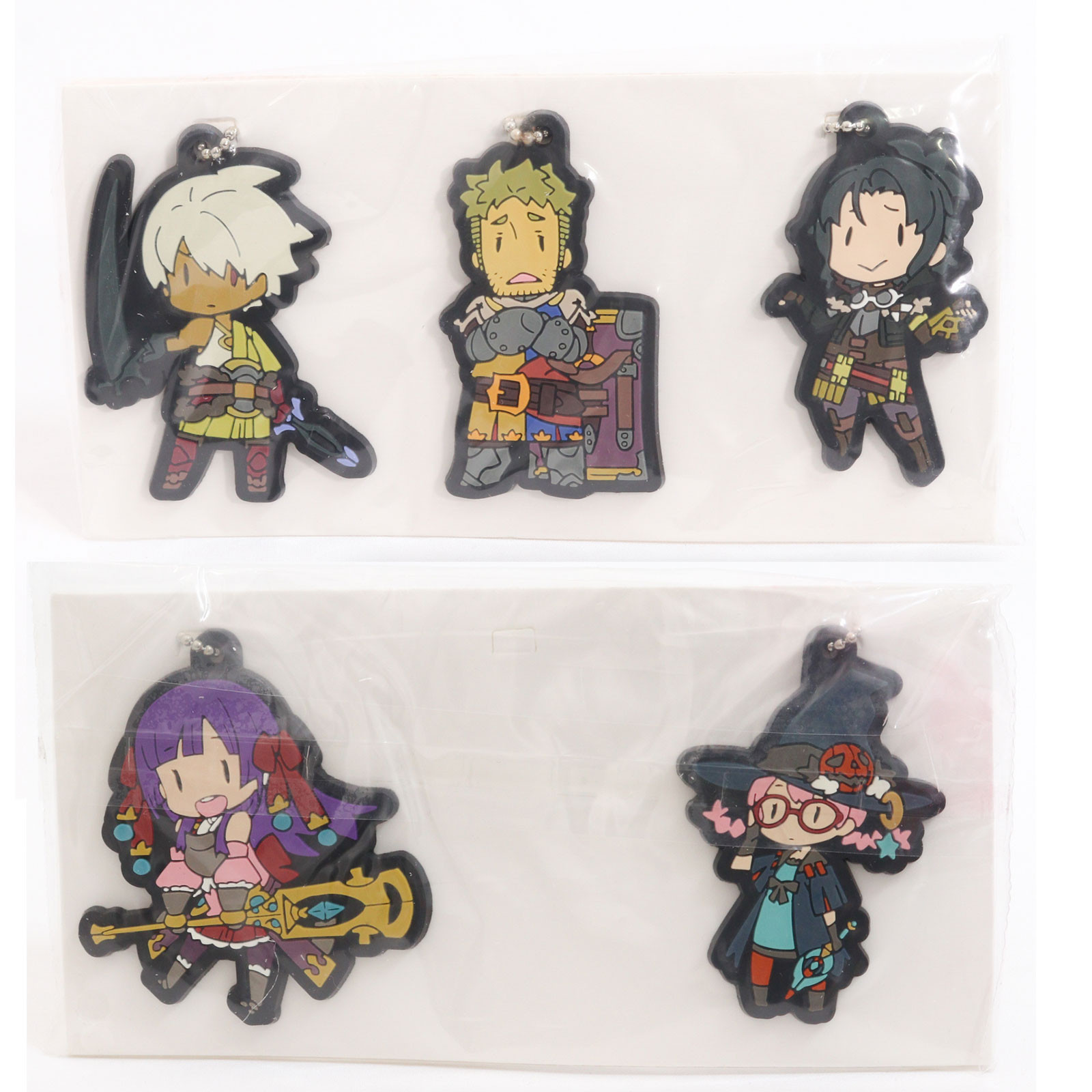 Etrian Odyssey 2 Untold: The Fafnir Knight Mascot Rubber Ballchain 5pc Set