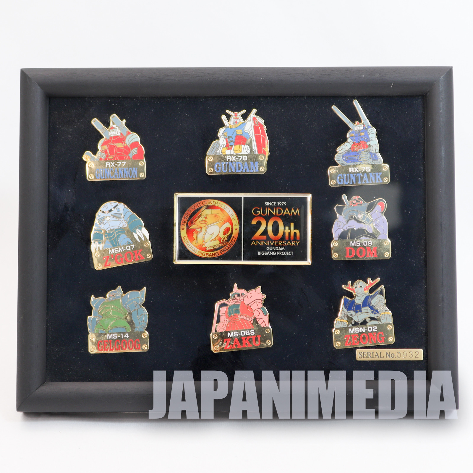 Gundam 20th Anniversary Limited 10pc Pins Set JAPAN ANIME