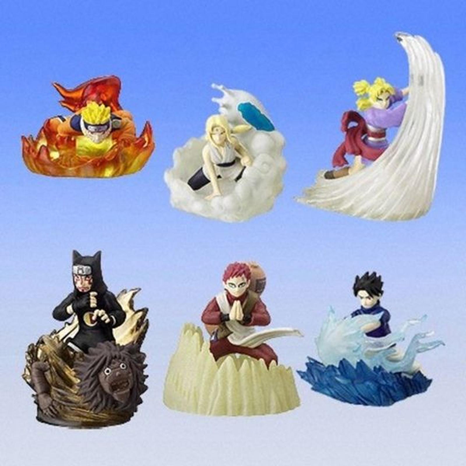 Set of 6 NARUTO Real Collection Figure Gashapon Bandai JAPAN ANIME MANGA JUMP
