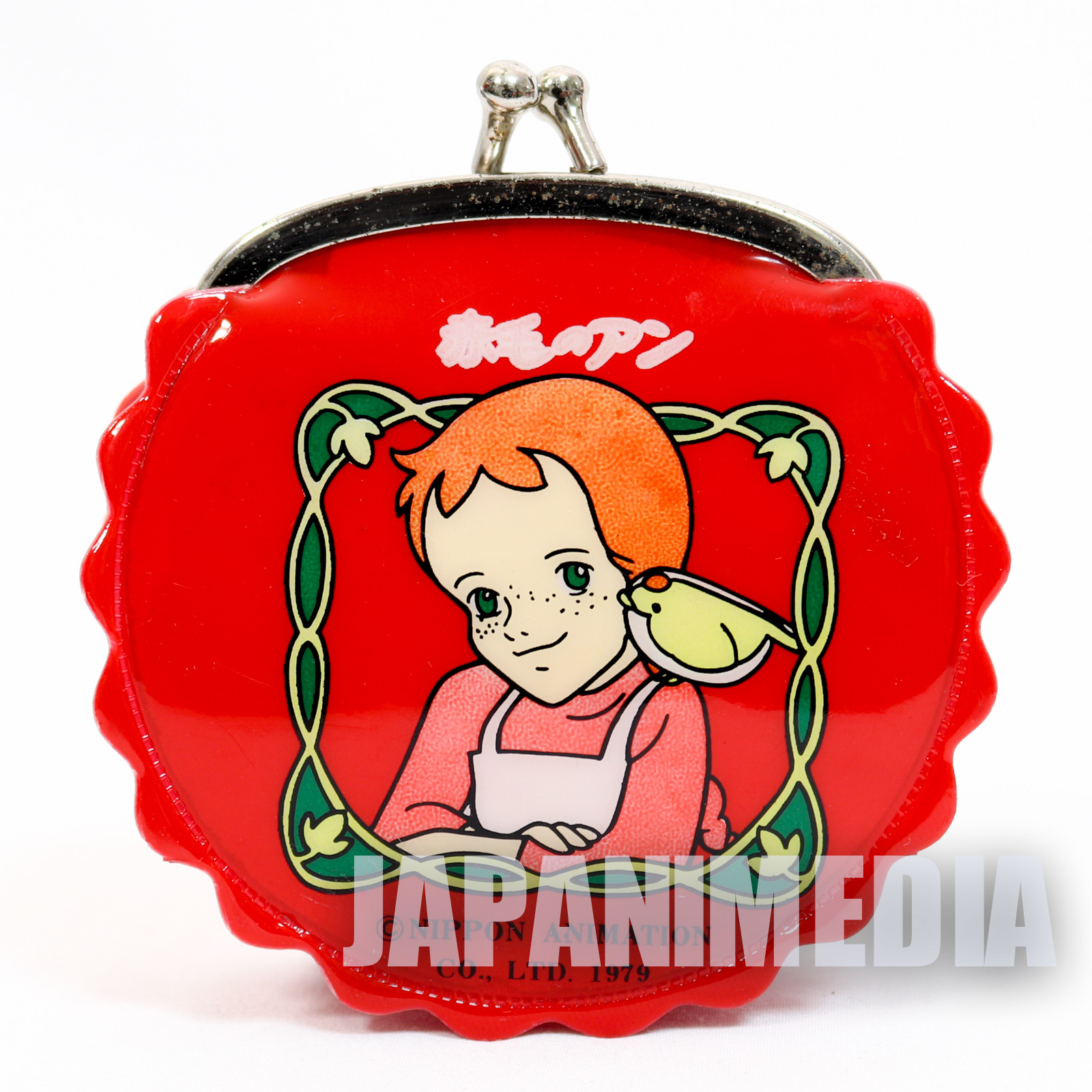 Retro! Anne of Green Gables Purse with a Clasp Coin Case Red #4 JAPAN ANIME