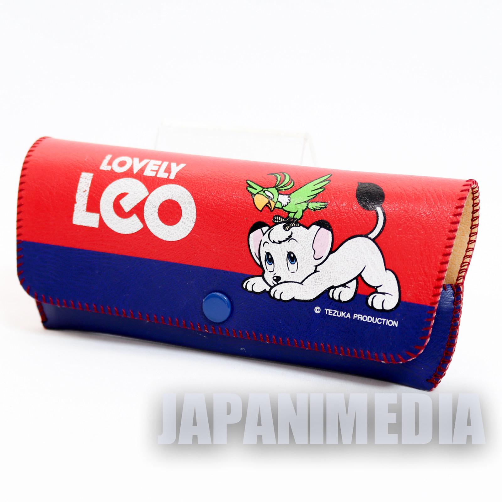 Retro RARE! Jungle Emperor Leo Glasses Case Tezuka Osamu JAPAN ANIME