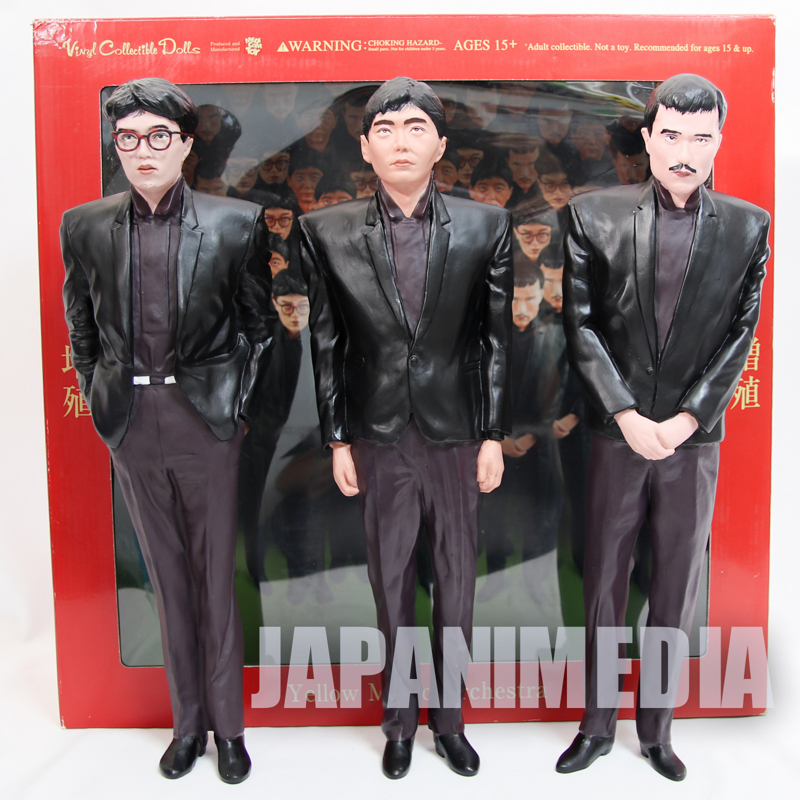 YMO Yellow Magic Orchestra 1/6 Scale Figure 3pc Set VCD Medicom Toy JAPAN