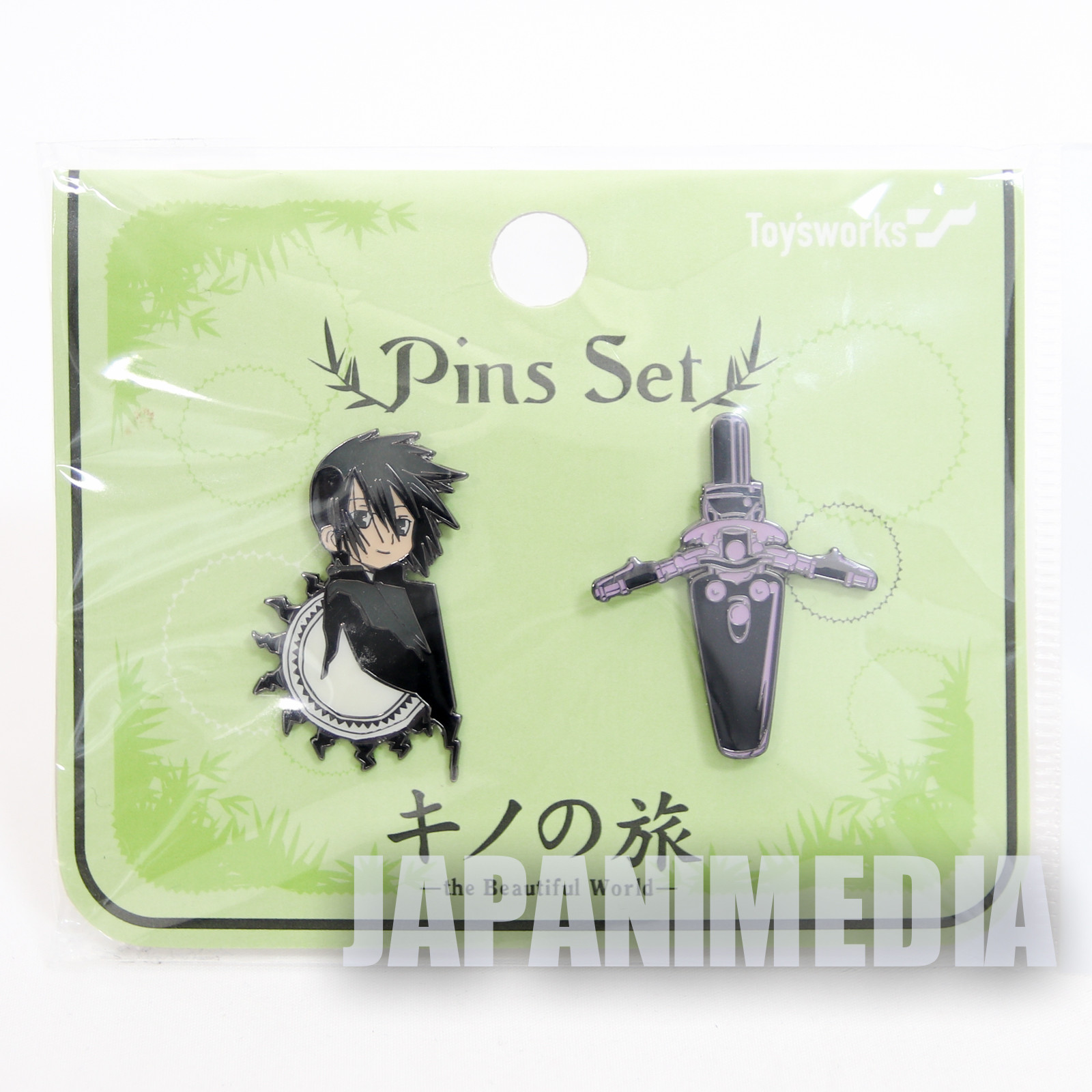 Kino's Journey The Beautiful World Characters Pins 2pc Set KINO NO TABI TRAVELS