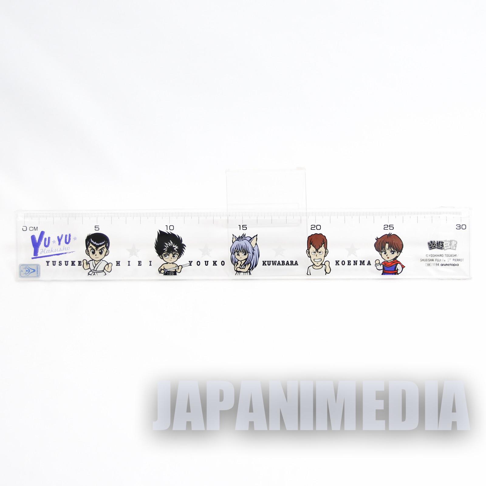 Yu Yu Hakusho Ruler 30cm Yusuke / Kuwabara / Kurama / Hiei JAPAN ANIME MANGA
