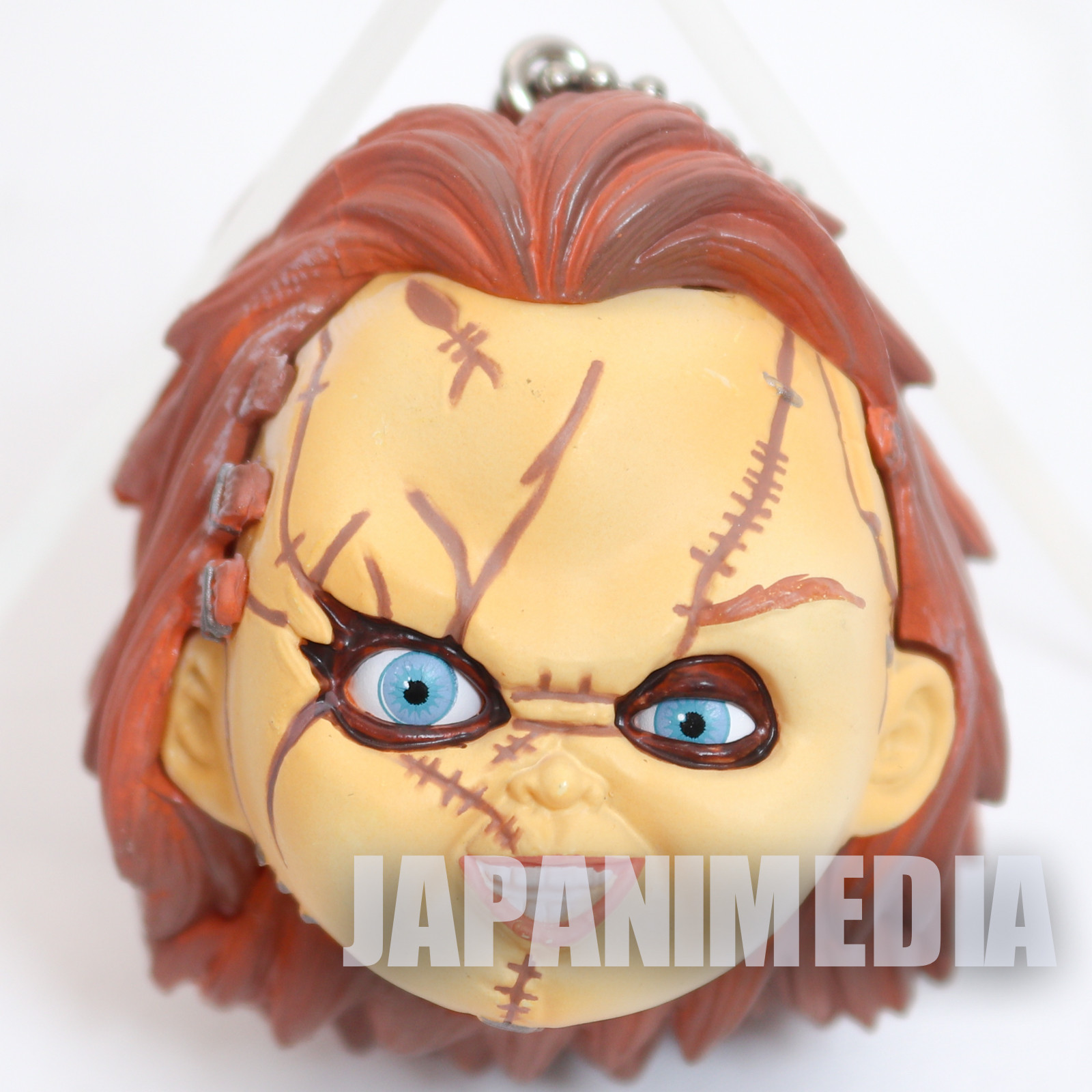 Child's Play CHUCKY B Eyes Moving Face Figure Ballchain JAPAN ANIME