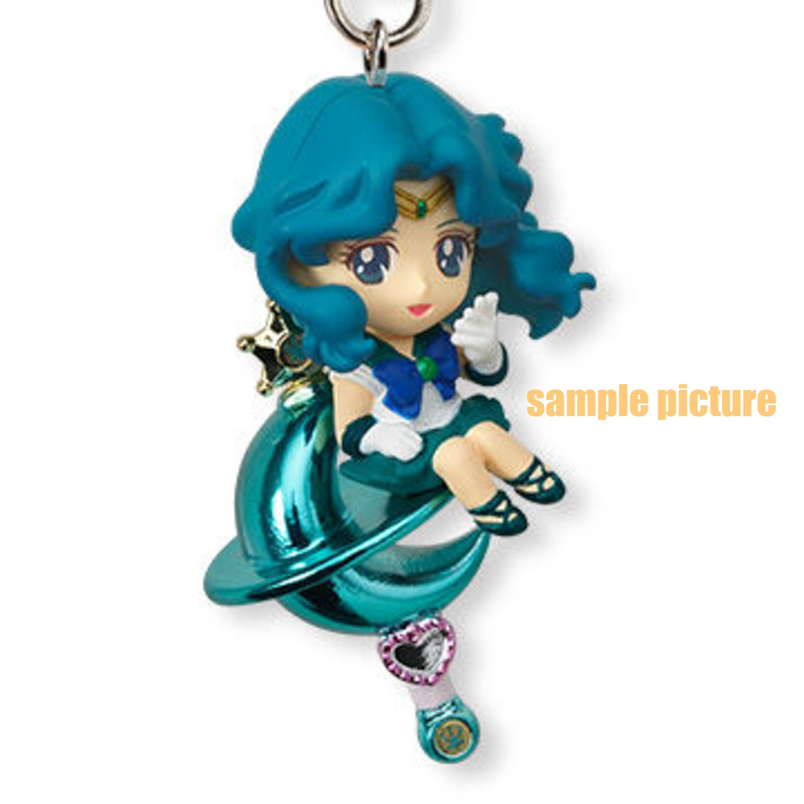 Sailor Moon Sailor Neptune Twinkle Dolly 2 Figure Strap JAPAN ANIME