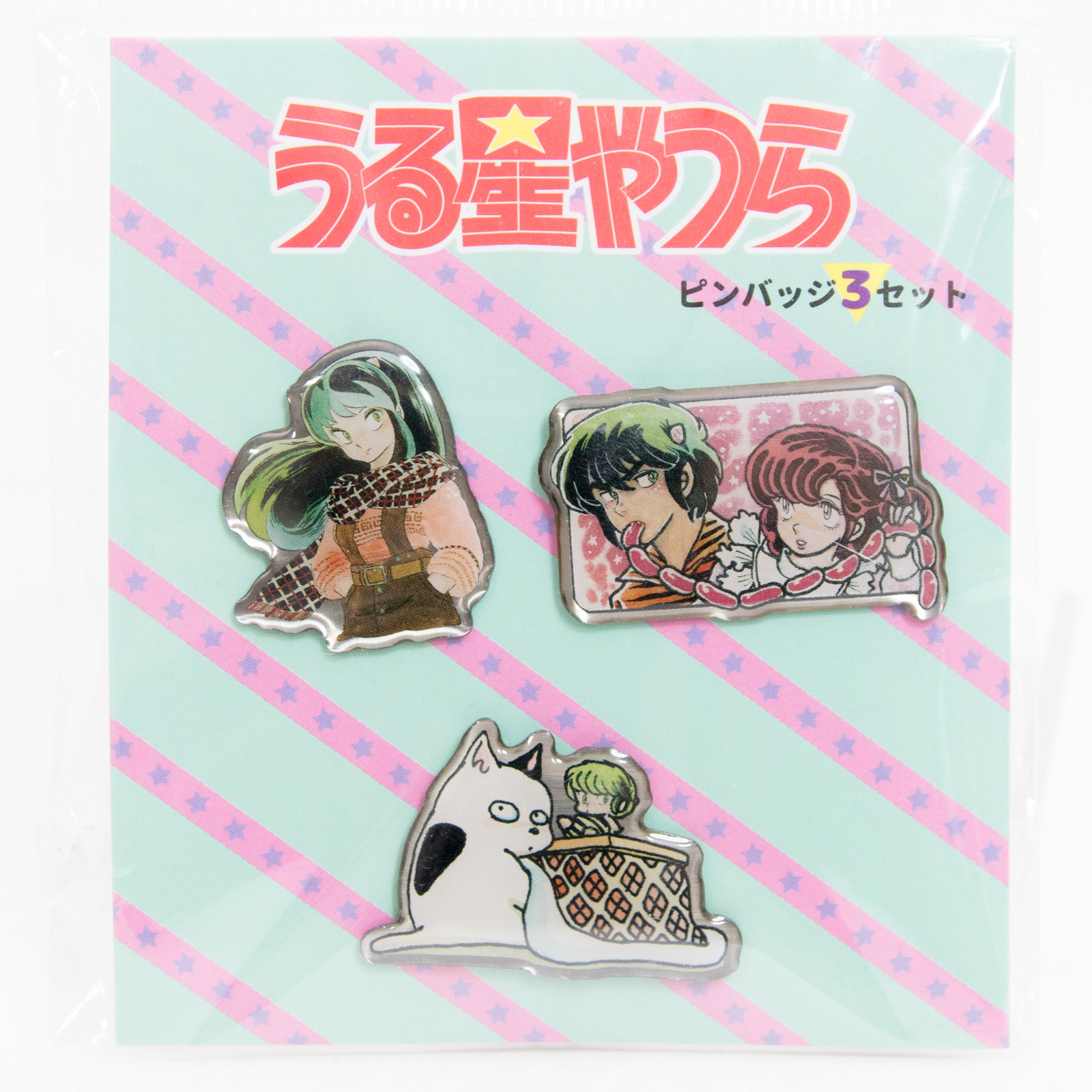 Urusei Yatsura Metal Pins 3pc Set B JAPAN ANIME RUMIKO TAKAHASHI
