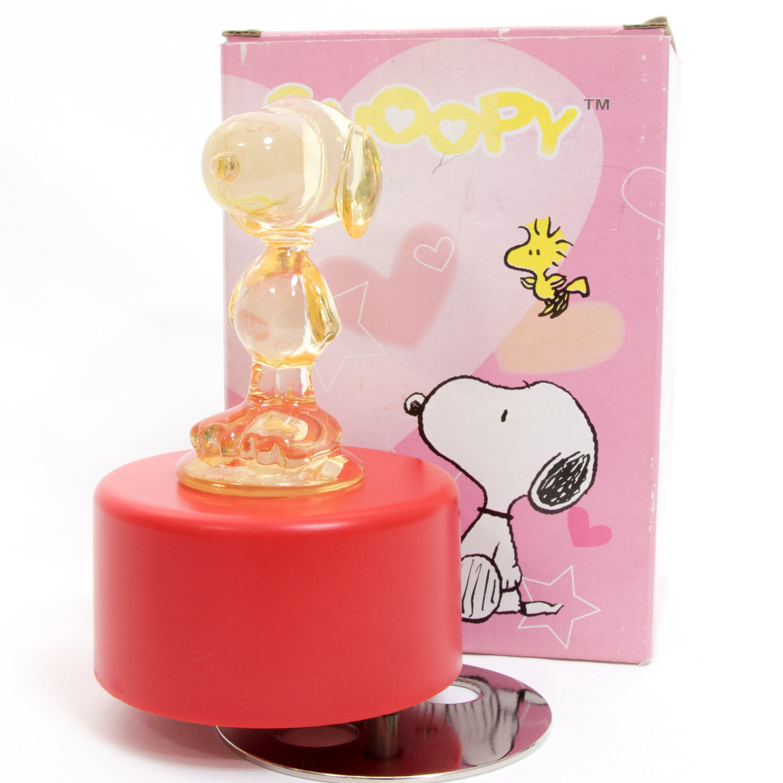 Snoopy Clear Figure Music Box with Light JAPAN ANIME ORGEL