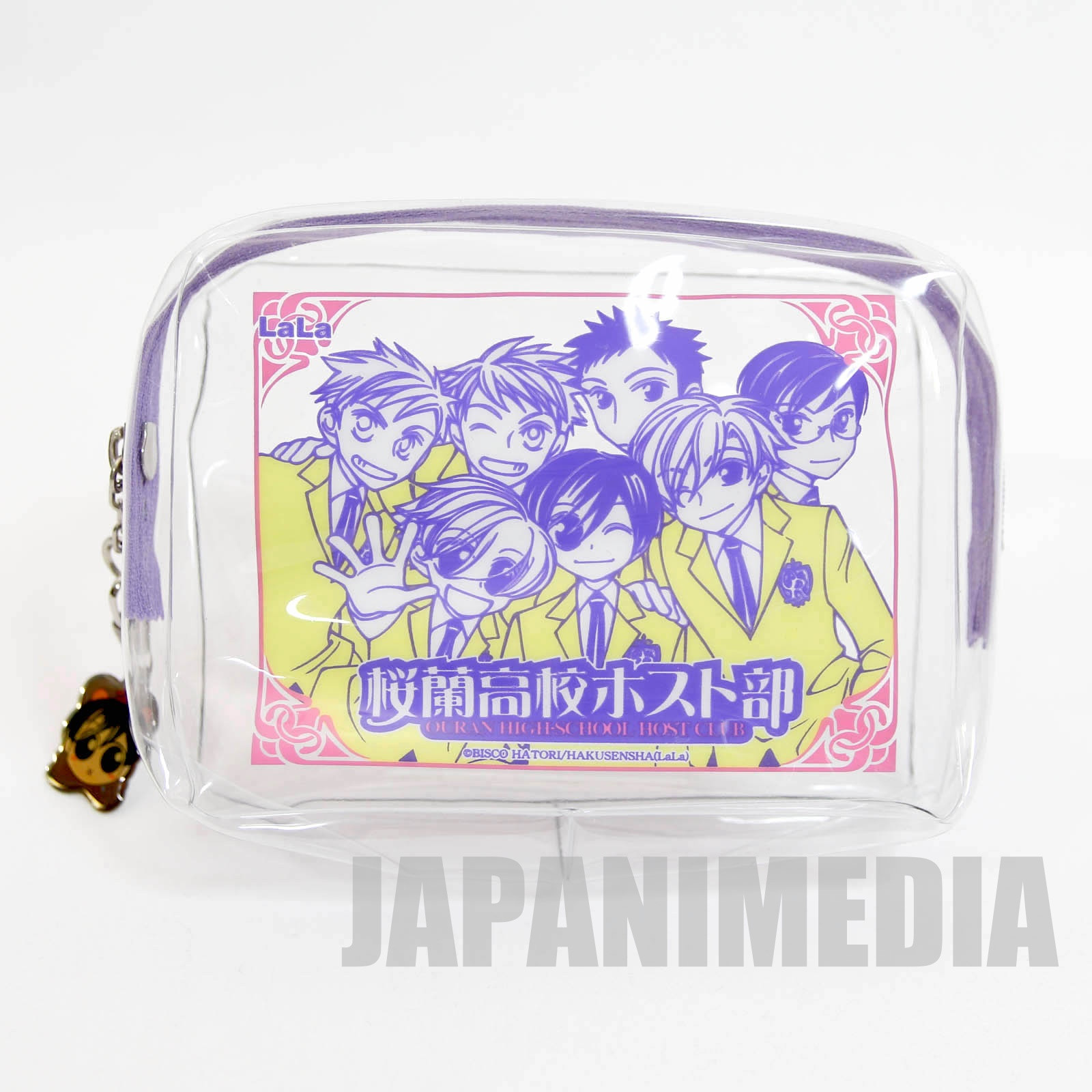 Ouran High School Host Club Nylon Pouch bag with Charm JAPAN MANGA