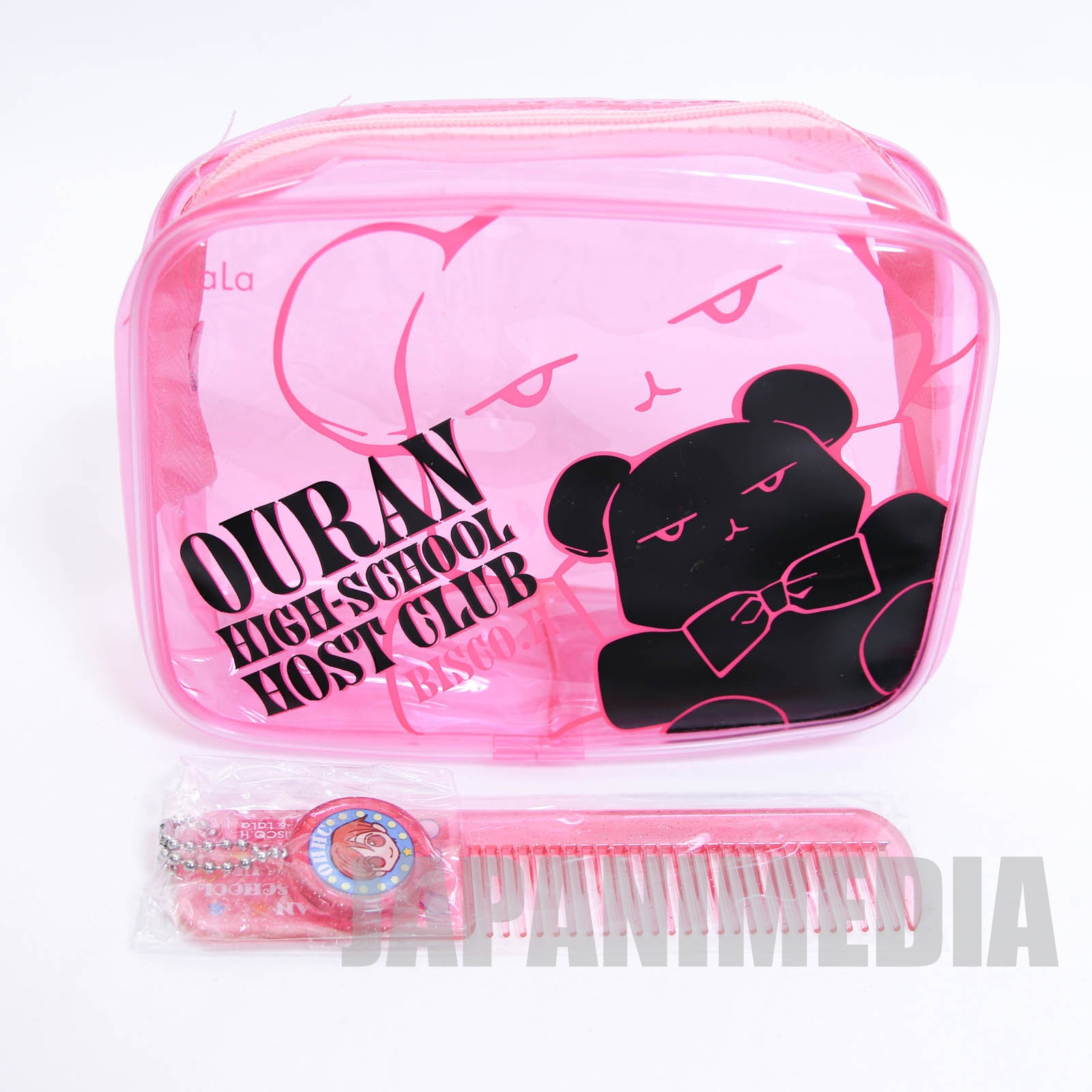Ouran High School Host Club Kuma-chan Nylon Pouch bag & Usa-chan Comb Set JAPAN MANGA