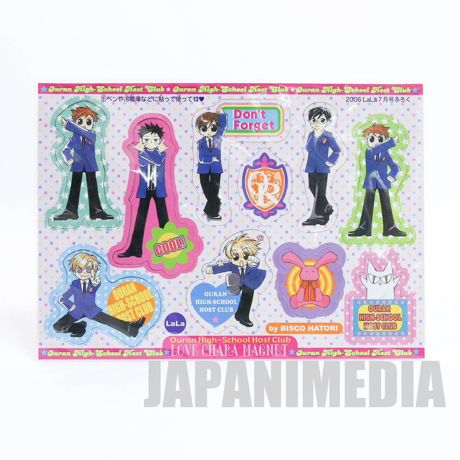 Ouran High School Host Club Love Chara Magnet sheet JAPAN MANGA