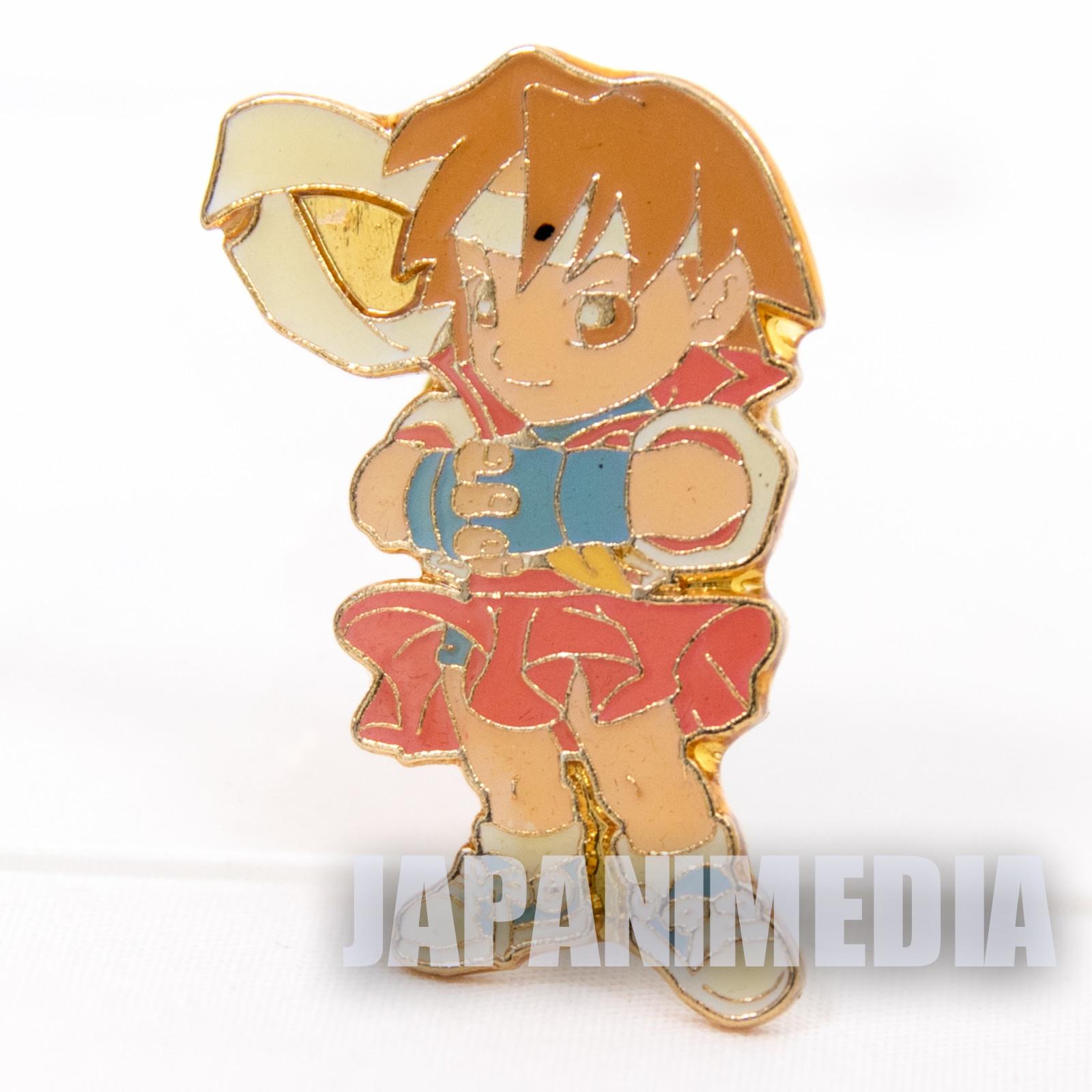 Street Fighter 2 Metal Pins Badge Sakura Capcom Character JAPAN GAME 2