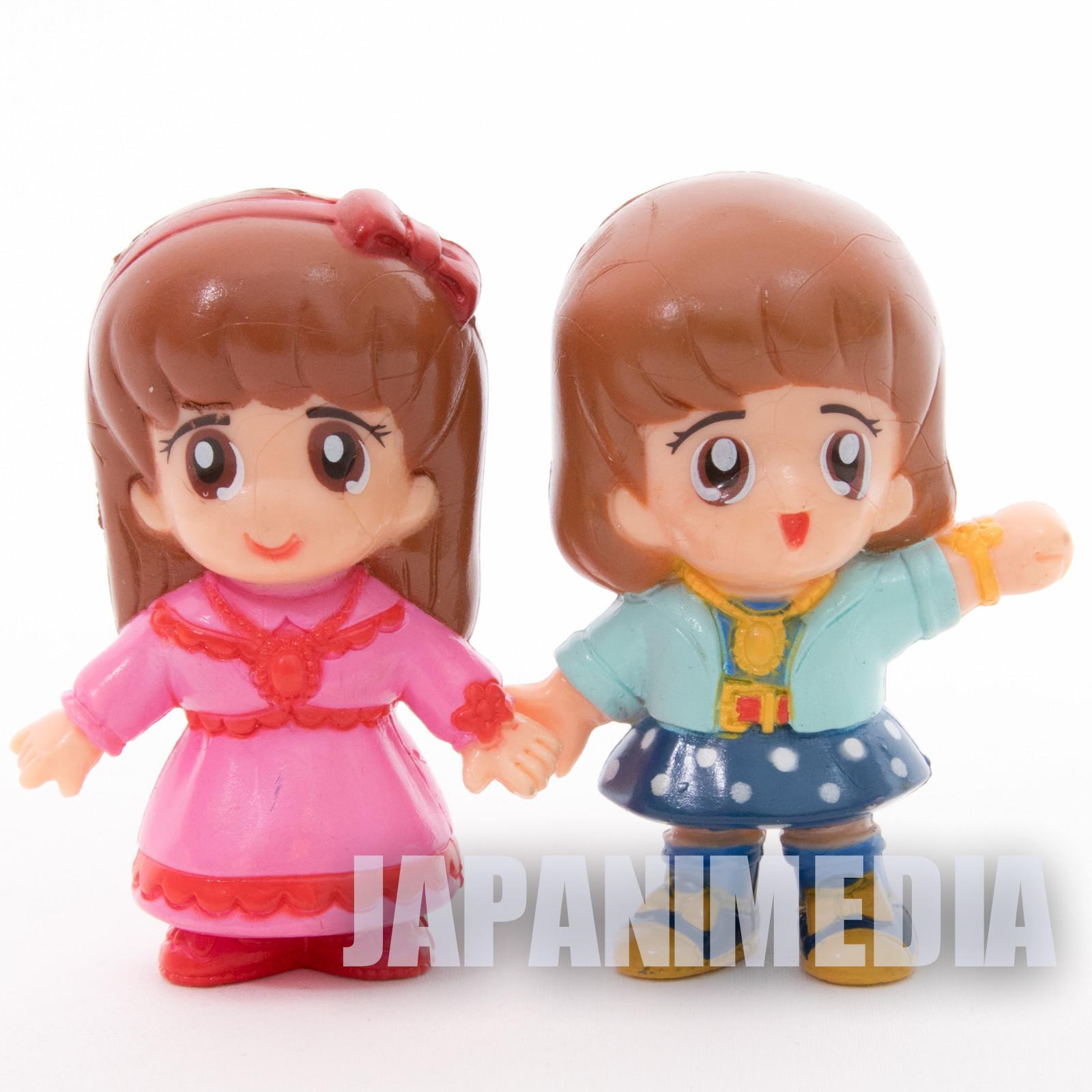 Retro RARE! Miracle Girls Tomomi Mikage Matsunaga Figure 2pc Set TAKARA NO BOX