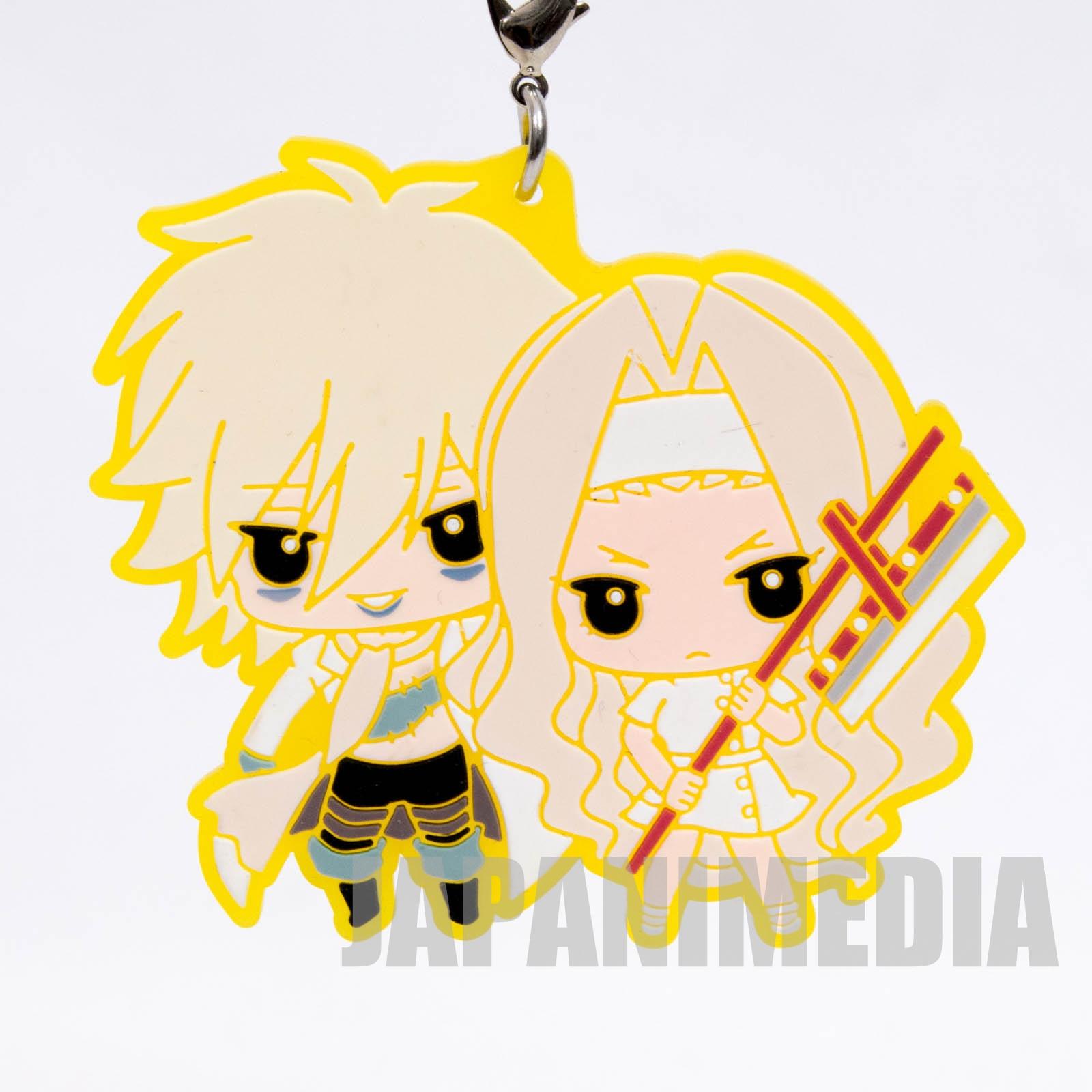 Shaman King Johann Faust VIII & Eliza Capsule Rubber mascot strap 2 JAPAN MANGA