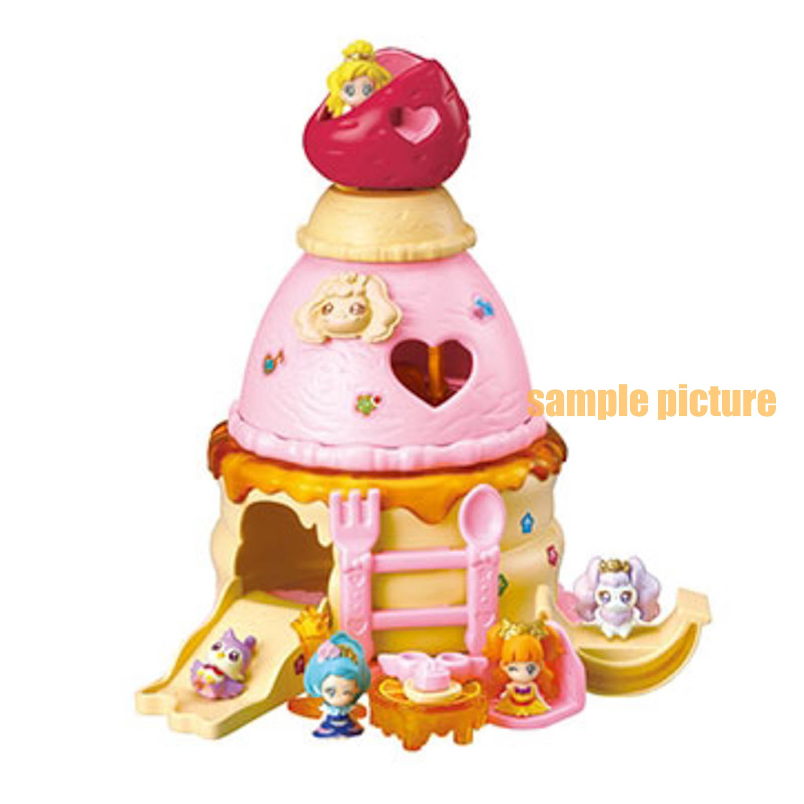 [Complete 5pc set] Go! Princess PreCure PreCure's Pancake House Figure JAPAN ANIME