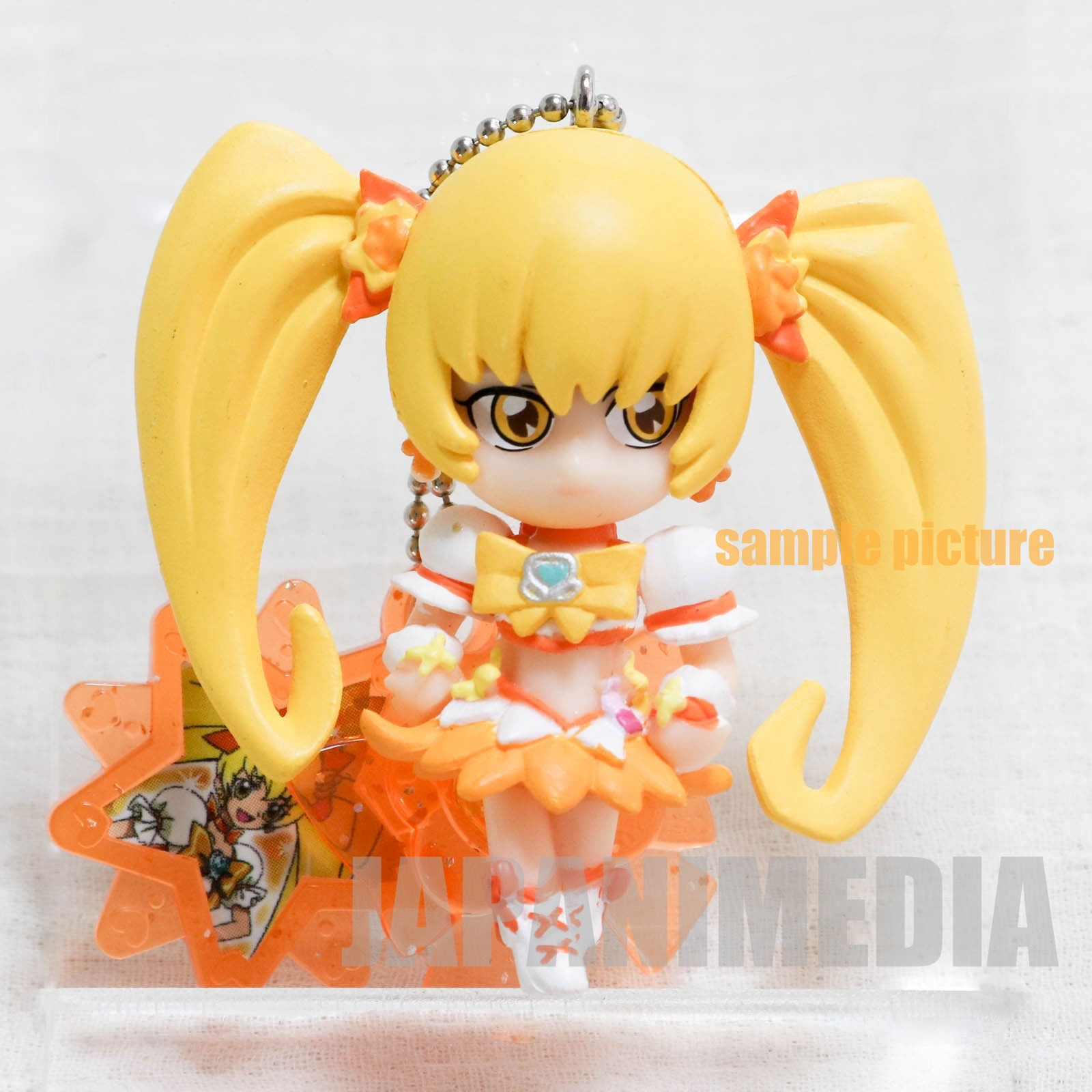 HeartCatch PreCure! Cure Sunshine PreCure Charm mascot Figure Keychain JAPAN ANIME 2