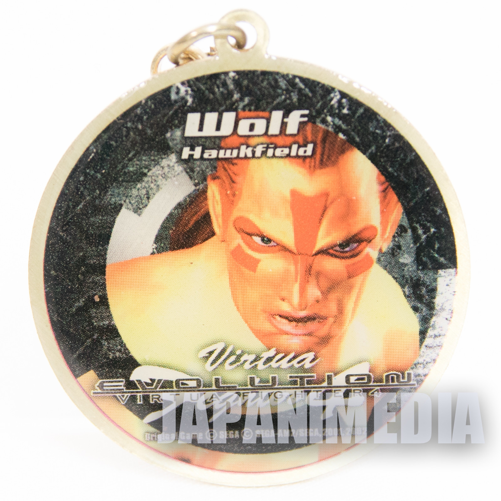 Virtua Fighter 4 Wolf Hawkfield Metal Mascot Charm JAPAN GAME SEGA