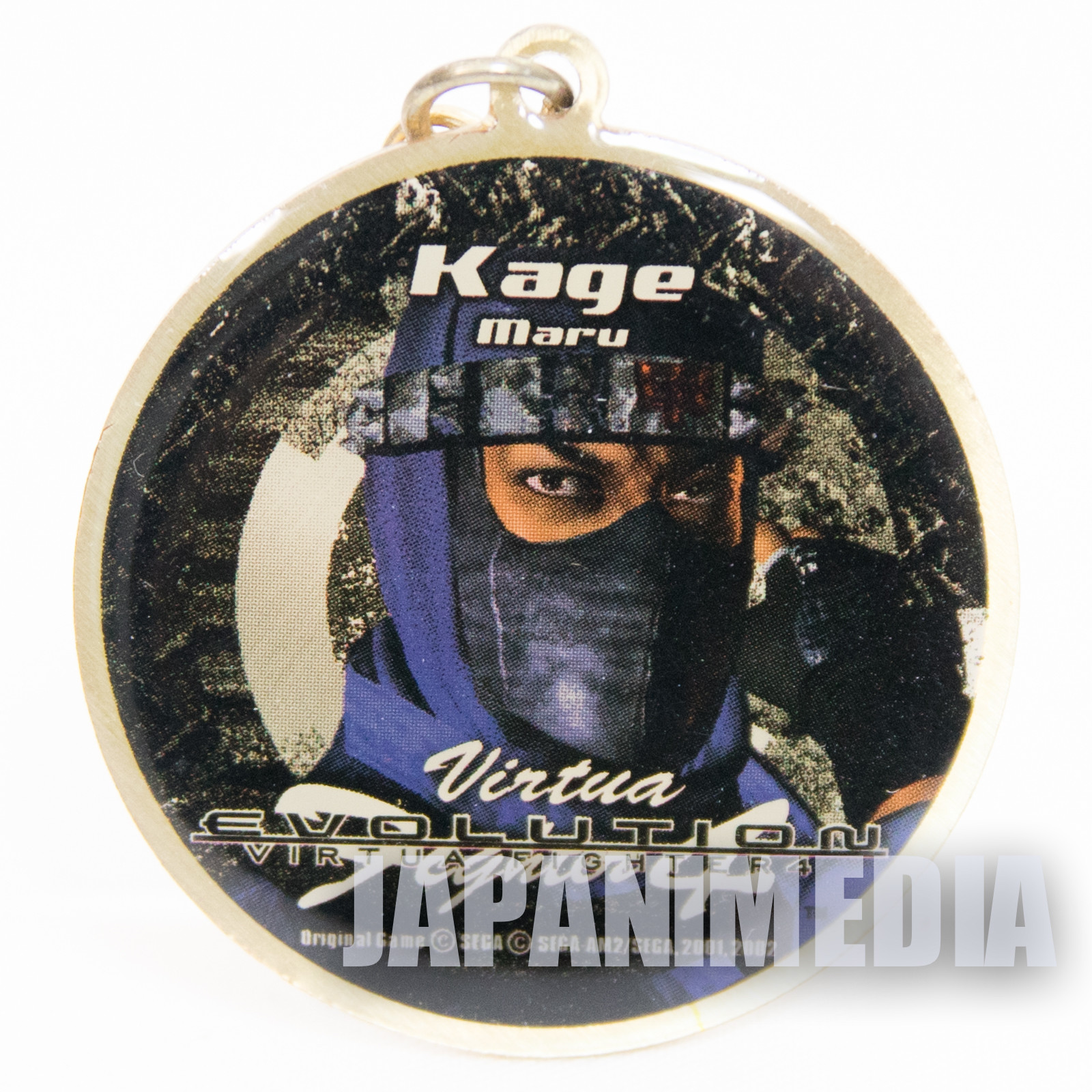 Virtua Fighter 4 Kagemaru Metal Mascot Charm JAPAN GAME SEGA