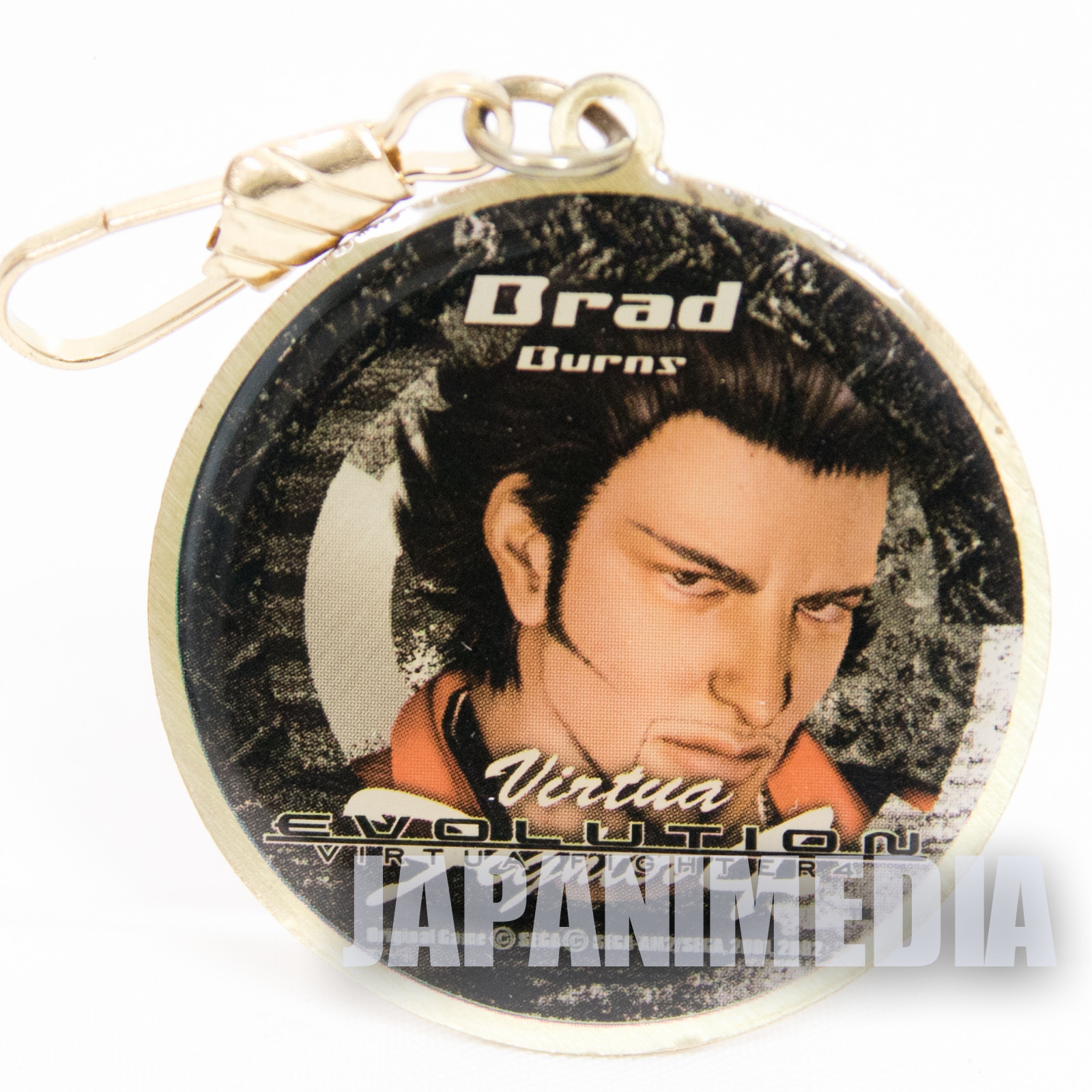 Virtua Fighter 4 Brad Burns Metal Mascot Charm JAPAN GAME SEGA