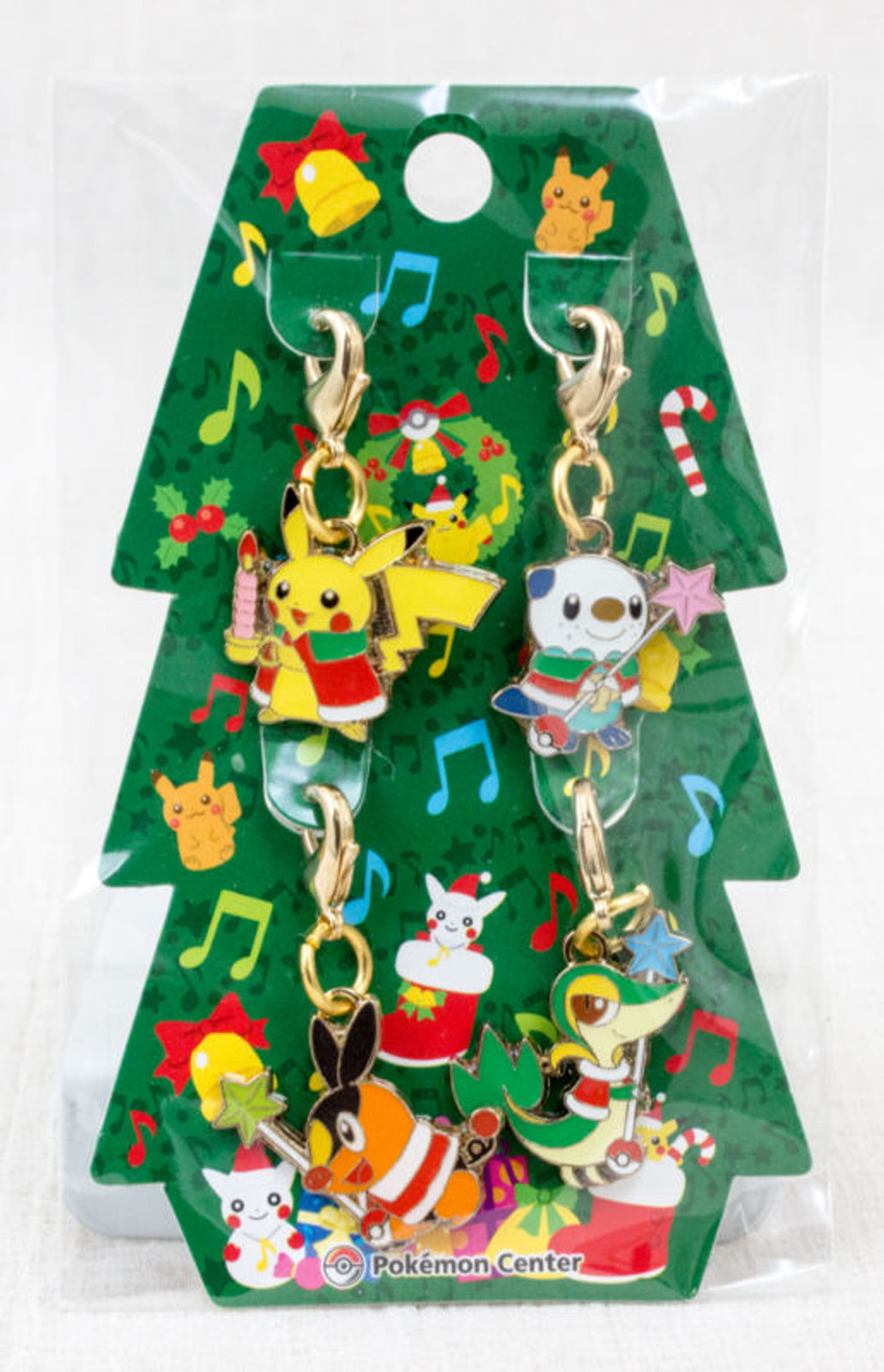 RARE!! Pokemon Metal Charm 4pc Set Christmas Tree 2010 Pikachu Pokemon Center JAPAN ANIME MANGA