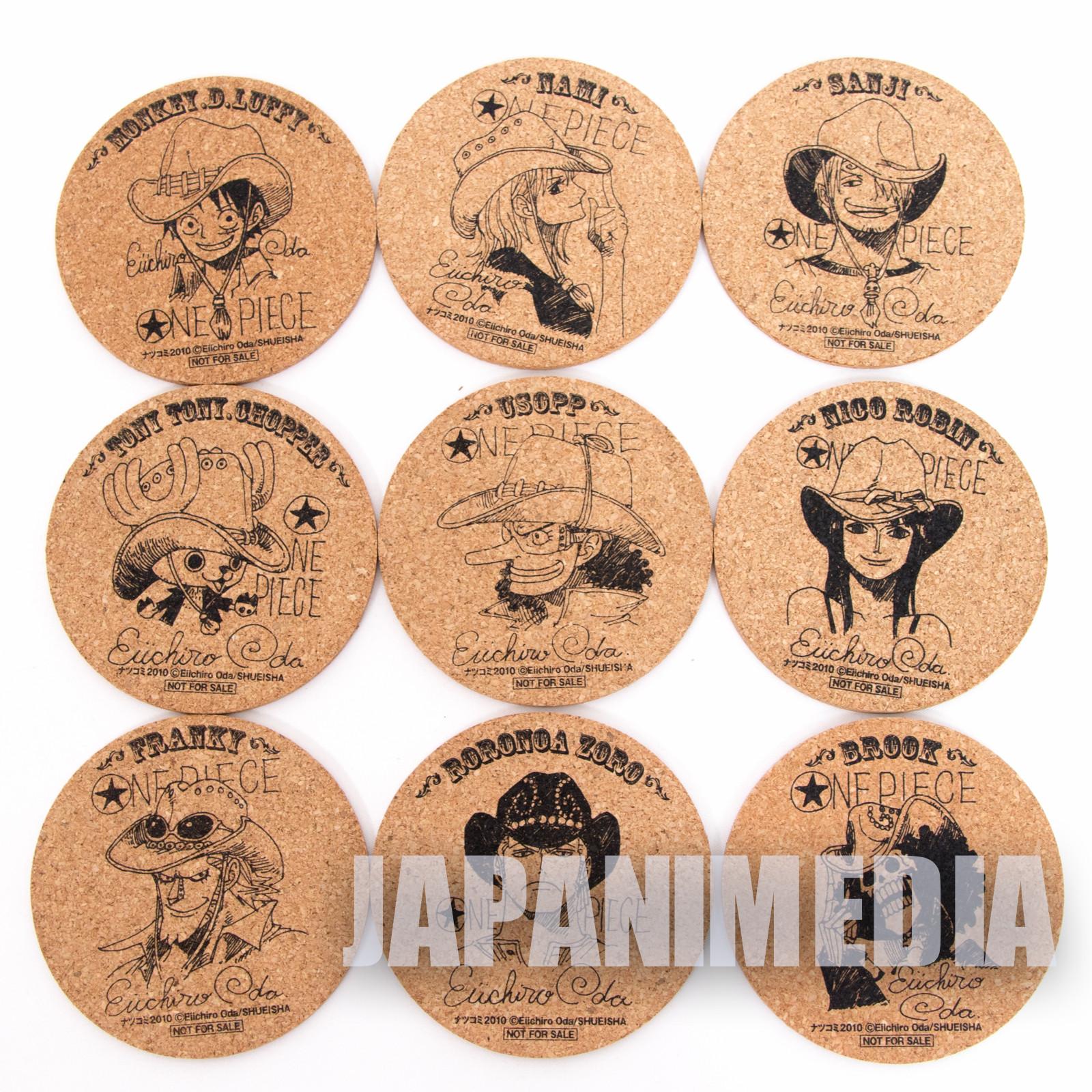 ONE PIECE Cork Coaster 9pc Set JAPAN ANIME