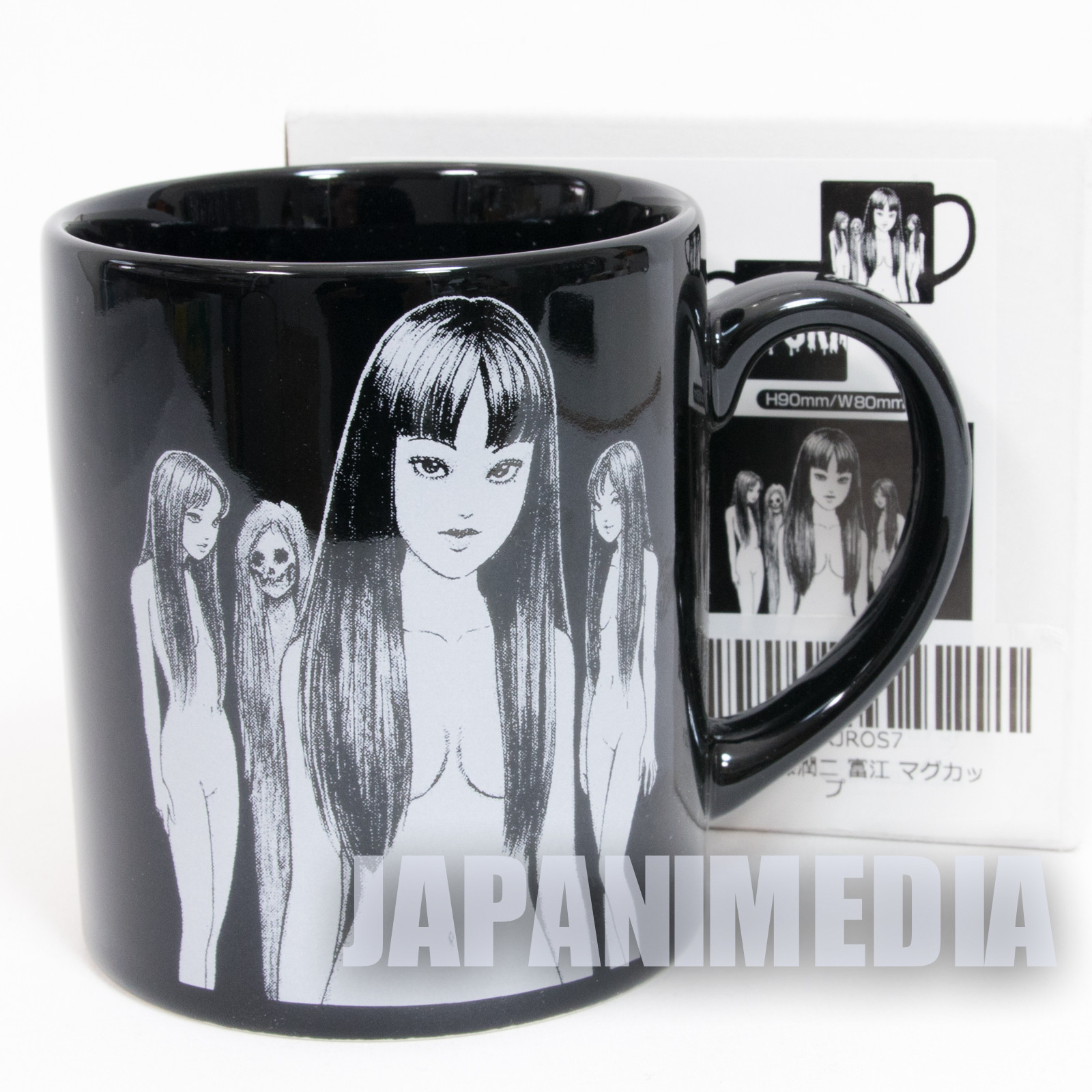 TOMIE Black Mug Junji Ito Kawasaki Tomie Horror MANGA JAPAN ANIME