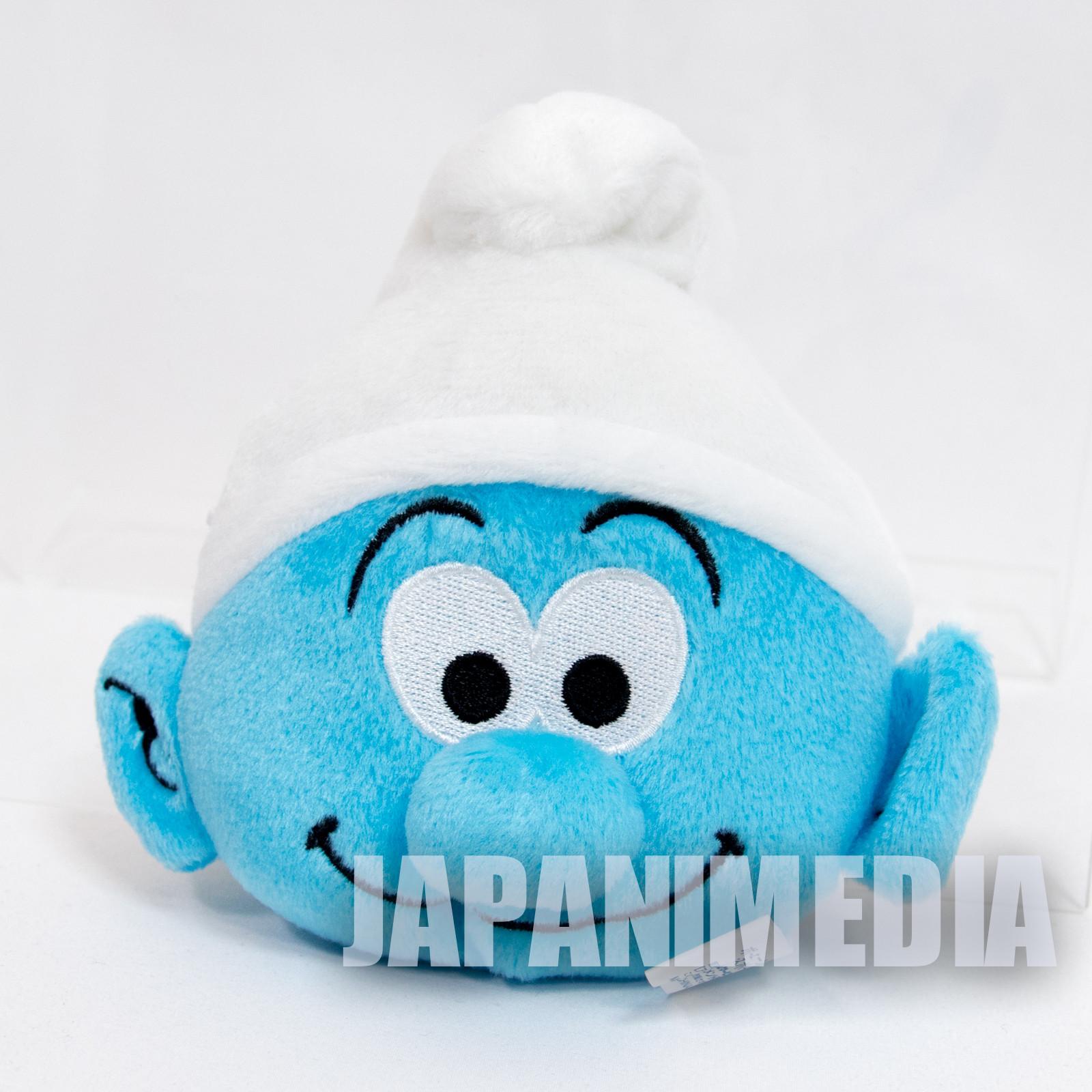 Smurf Face Type Plush Doll Pouch Mini Bag Ballchain JAPAN SMURFS
