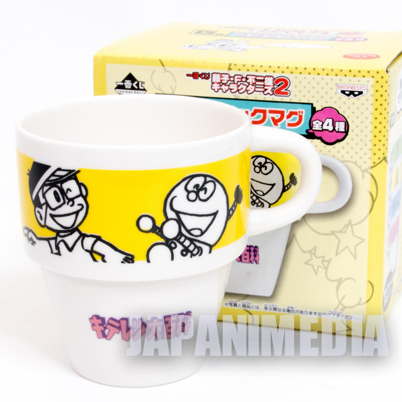 Fujiko F Fujio Characters Stacking Mug Cup Kiteretsu Daihyakka JAPAN ANIME MANGA