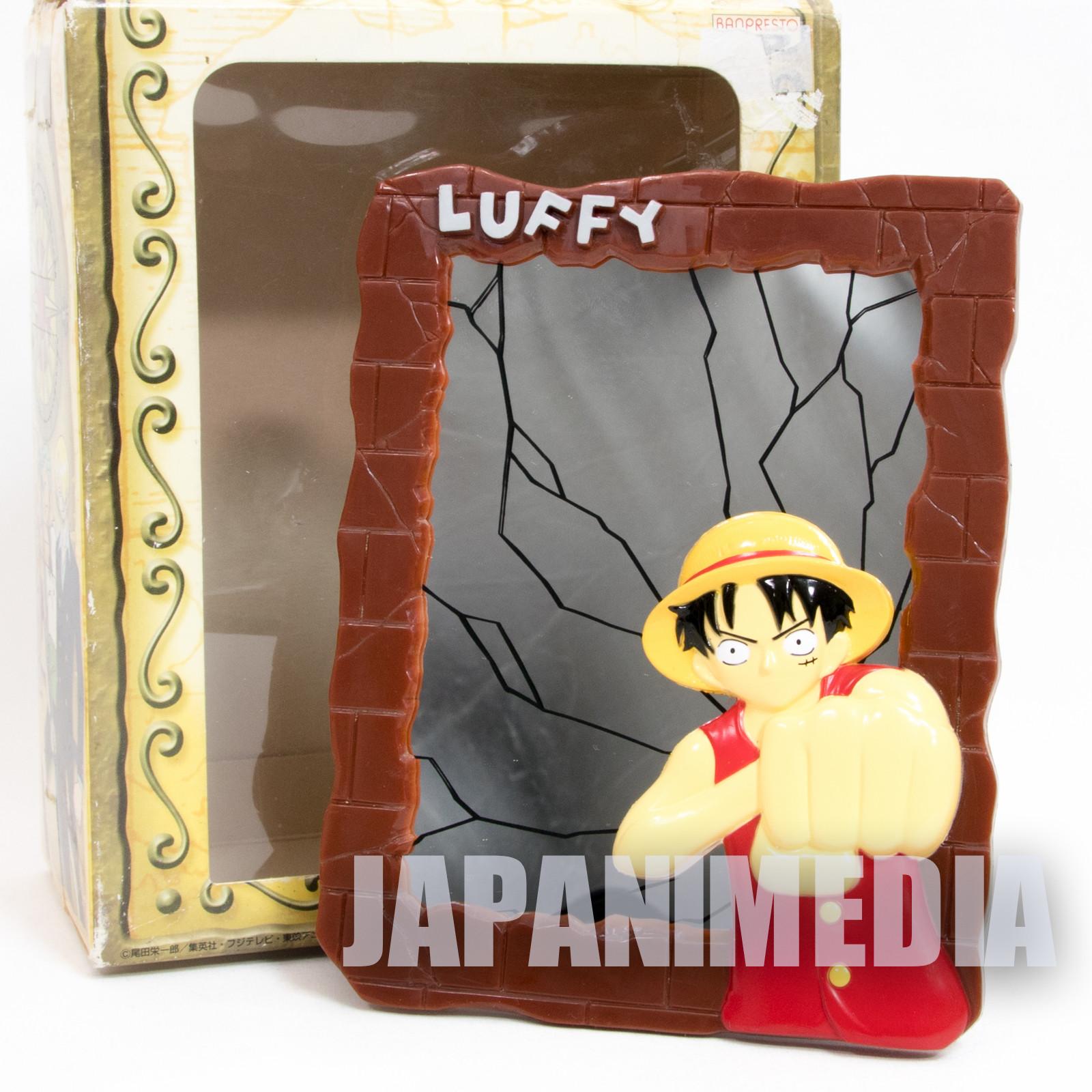 One Piece Mirror Stand Relief Monkey D Luffy JAPAN ANIME SHONEN JUMP