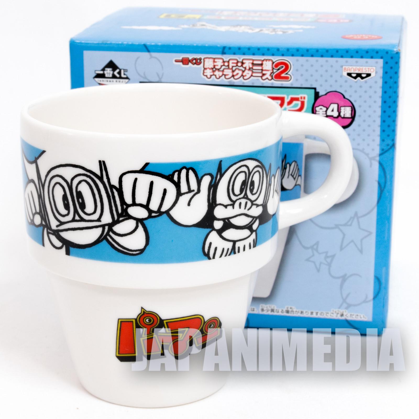 Fujiko F Fujio Characters Stacking Mug Cup Perman JAPAN ANIME MANGA