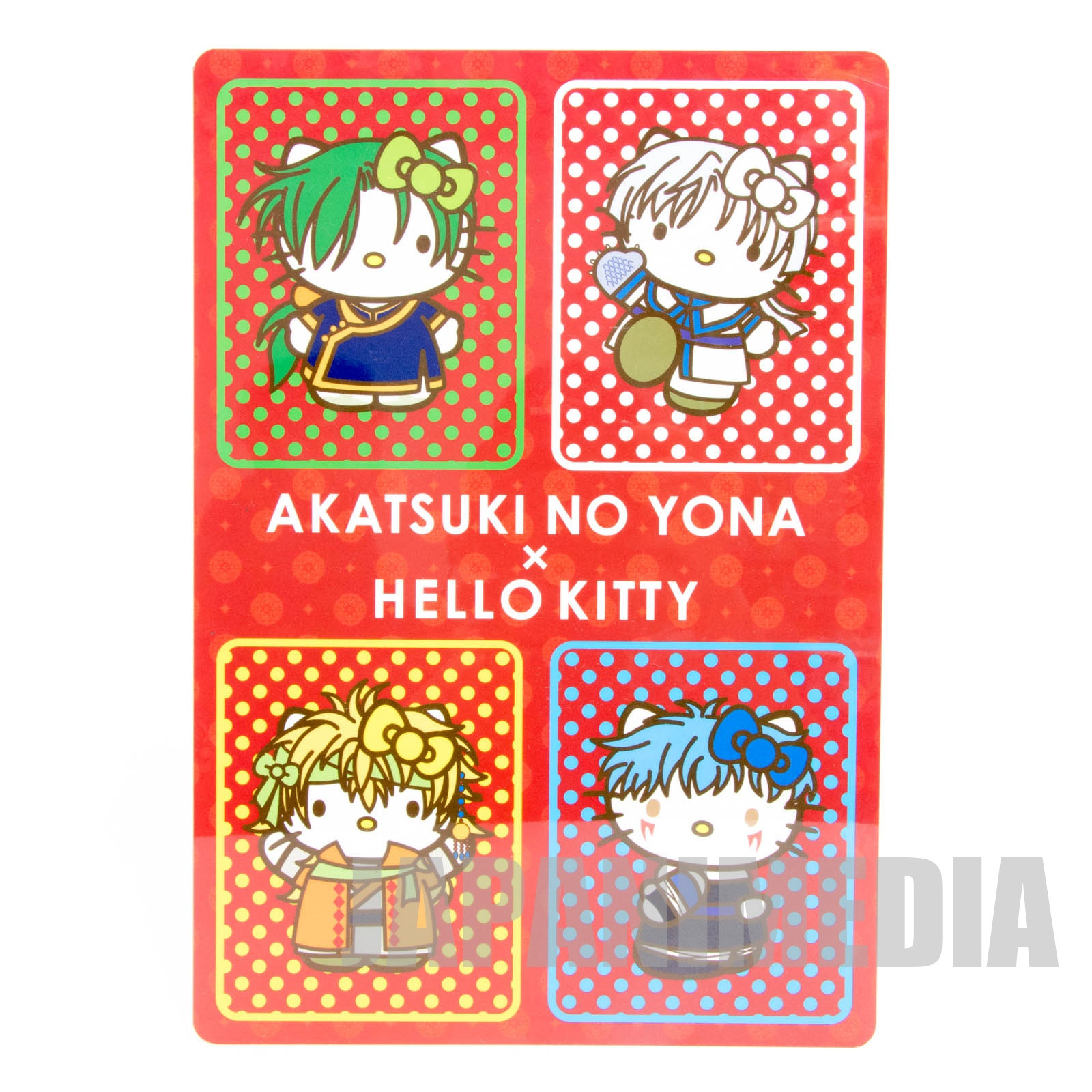 Yona of the Dawn x Hello Kitty Plastic Pencil Board Pad Shitajiki [Yona | Hak | Kija | Sinha | Jaeha | Zeno] JAPAN MANGA
