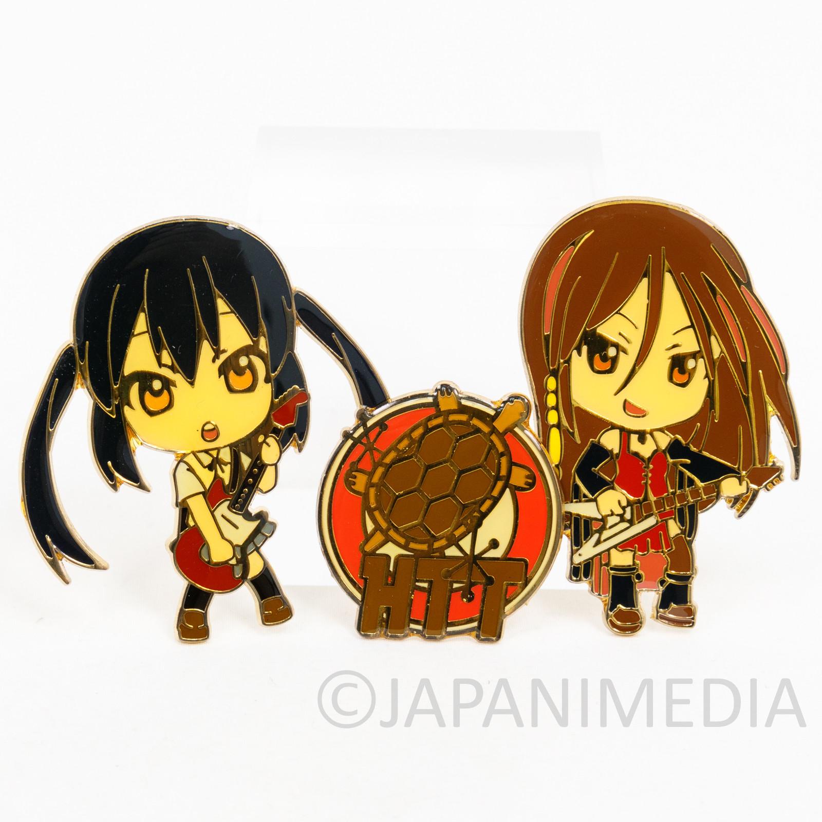 K-ON! Azusa Nakano & Sawako Yamanaka Metal Pins Set JAPAN KYOTO ANIMATION