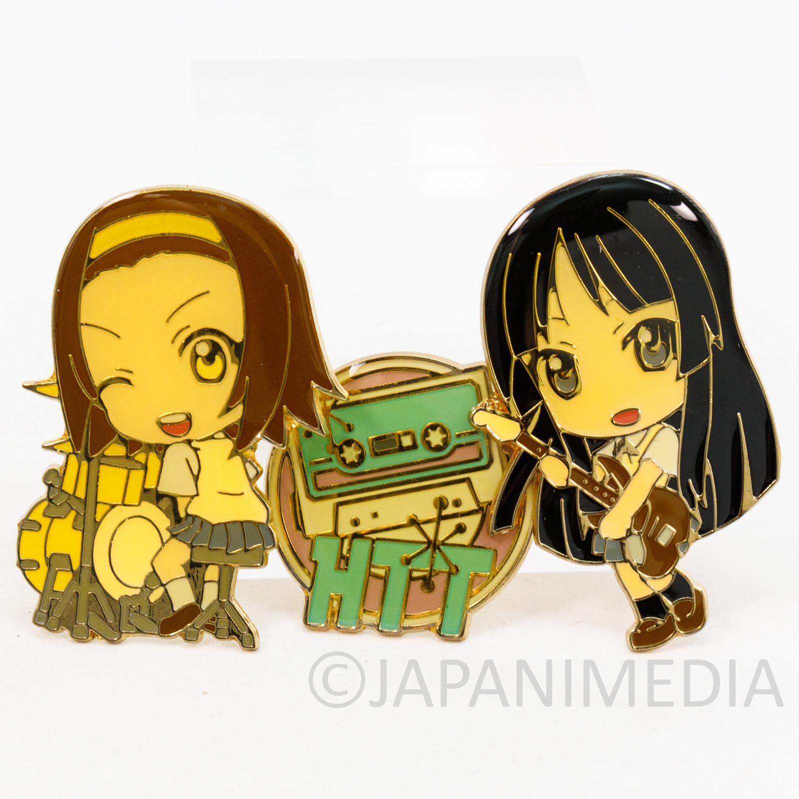 K-ON! Mio Akiyama & Ritsu Tainaka Metal Pins Set JAPAN KYOTO ANIMATION