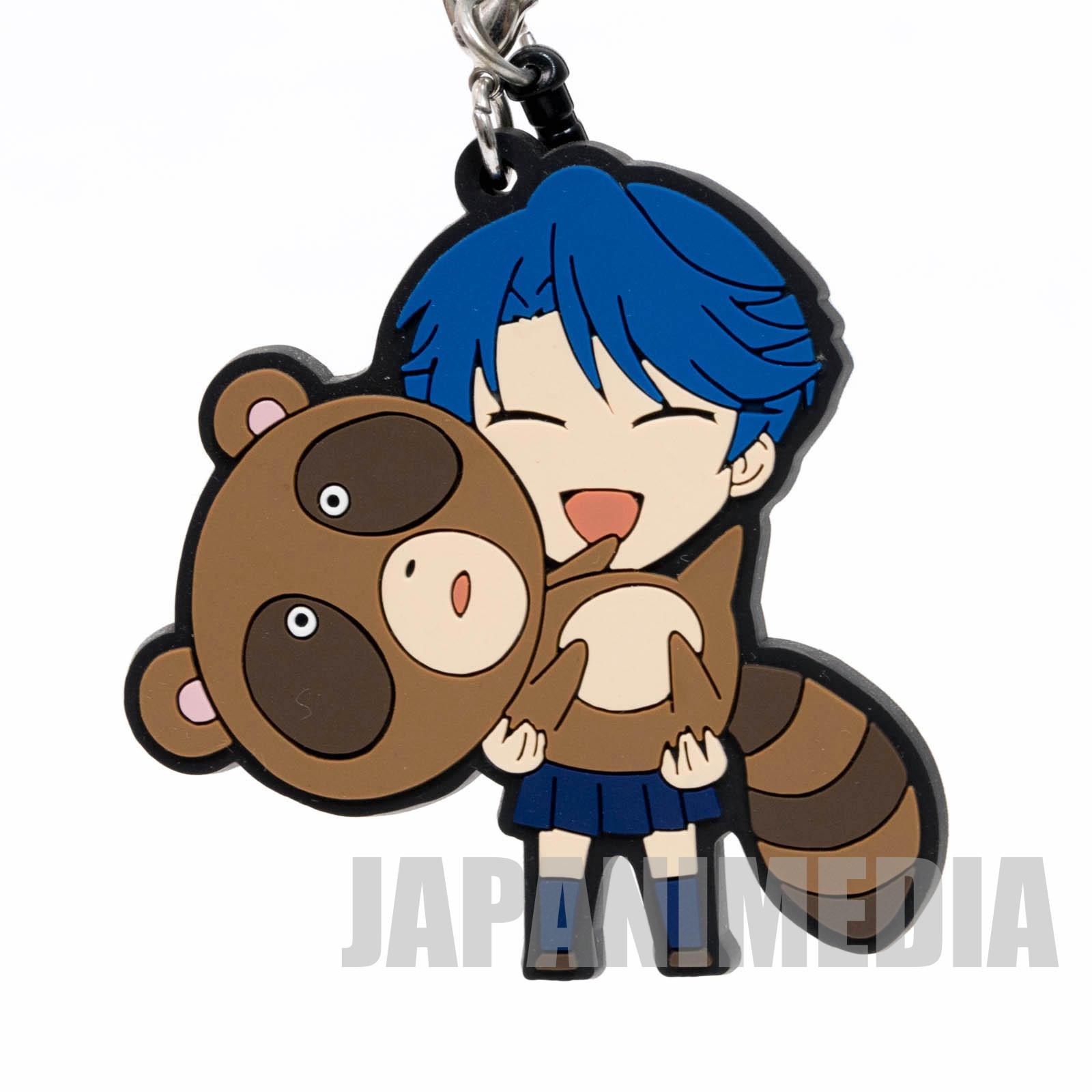 Monthly Girls' Nozaki-Kun Yuu Kashima Raccoon Trading Rubber Strap JAPAN ANIME MANGA