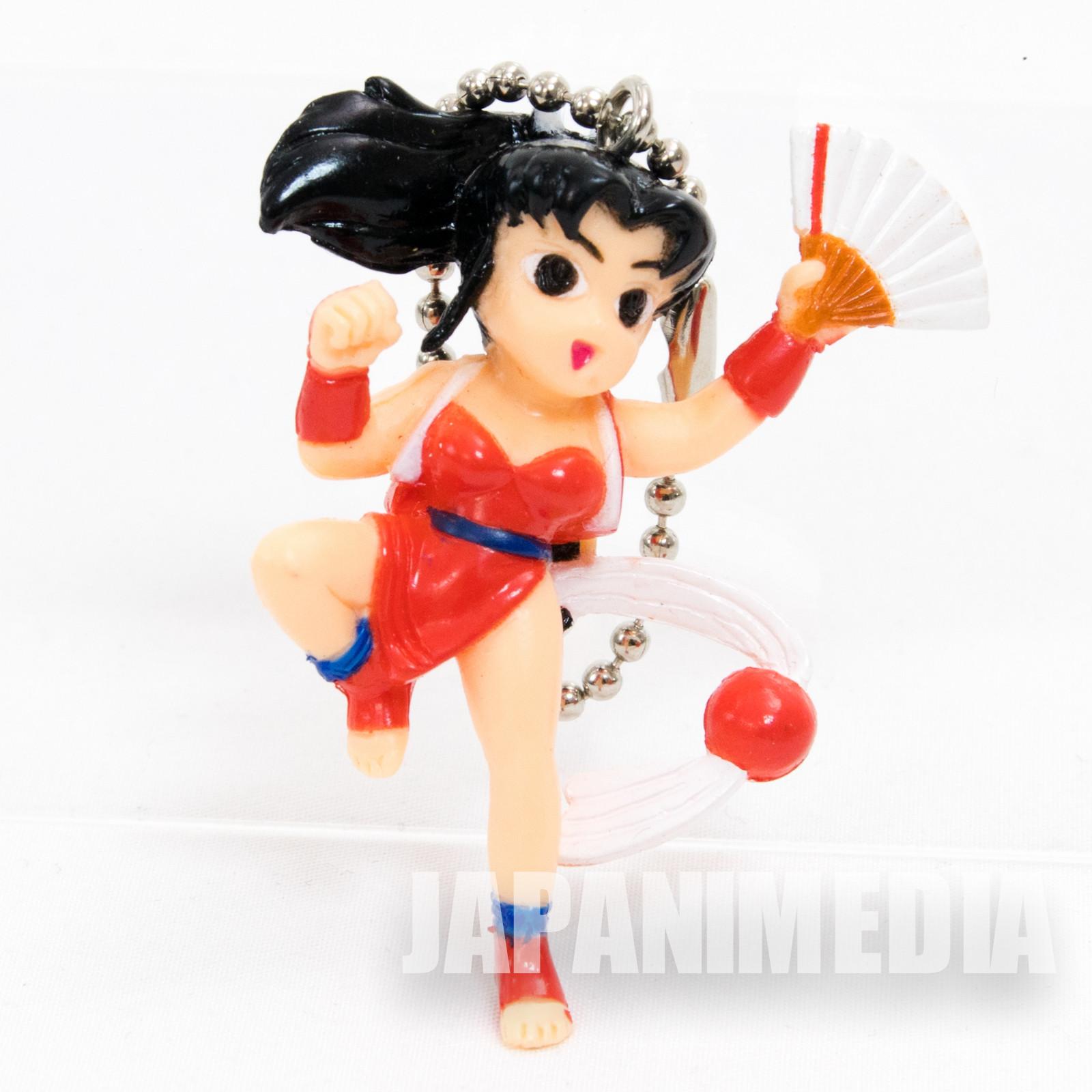KOF King of Fighters Fatal Fury Mai Shiranui Figure Ballchain JAPAN SNK