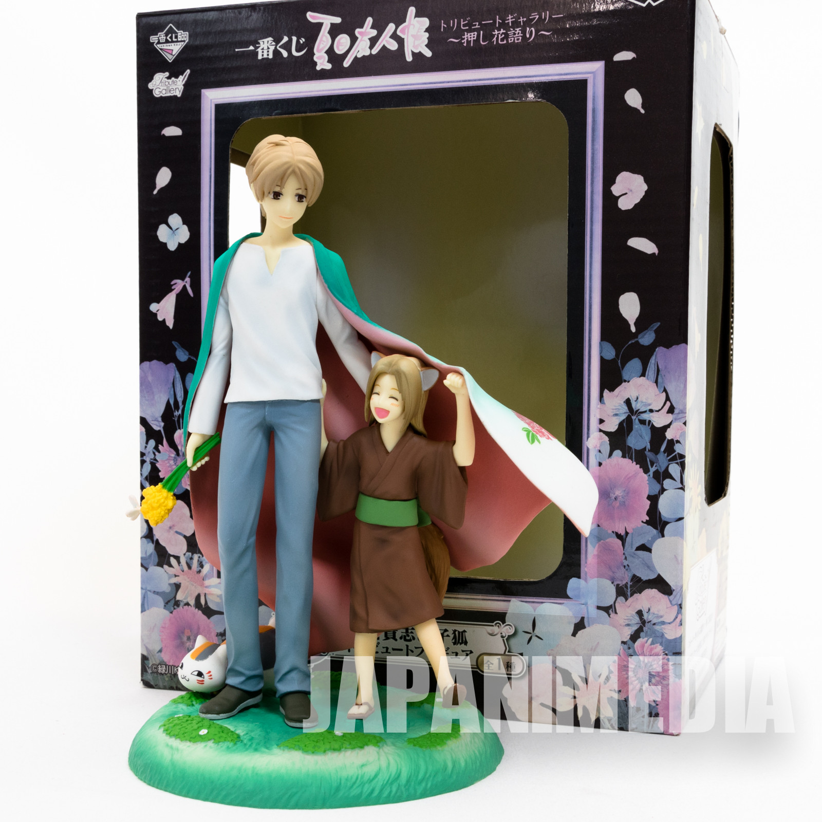 Natsume Yuujinchou Takashi & Little Fox Diorama Figure / Book of Friends JAPAN