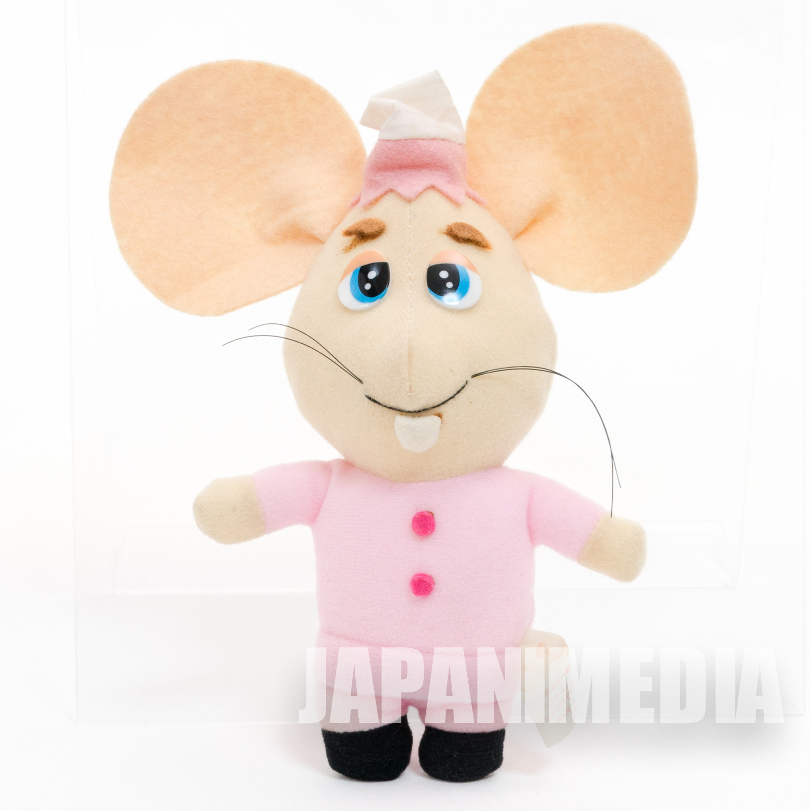 "Topo Gigio 7"" Plush Doll Pink JAPAN ANIME"